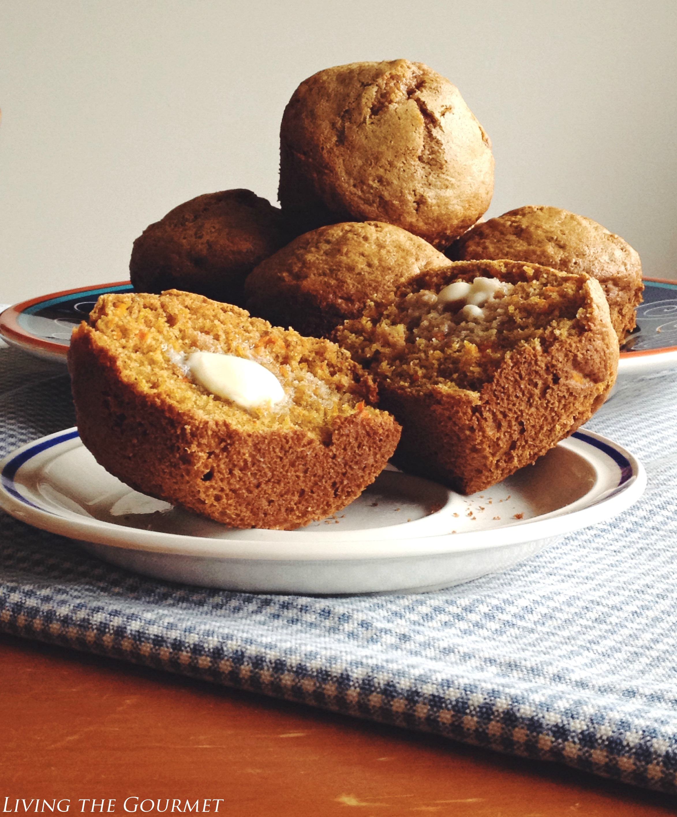 Spelt Carrot and Ginger Muffins - Living The Gourmet