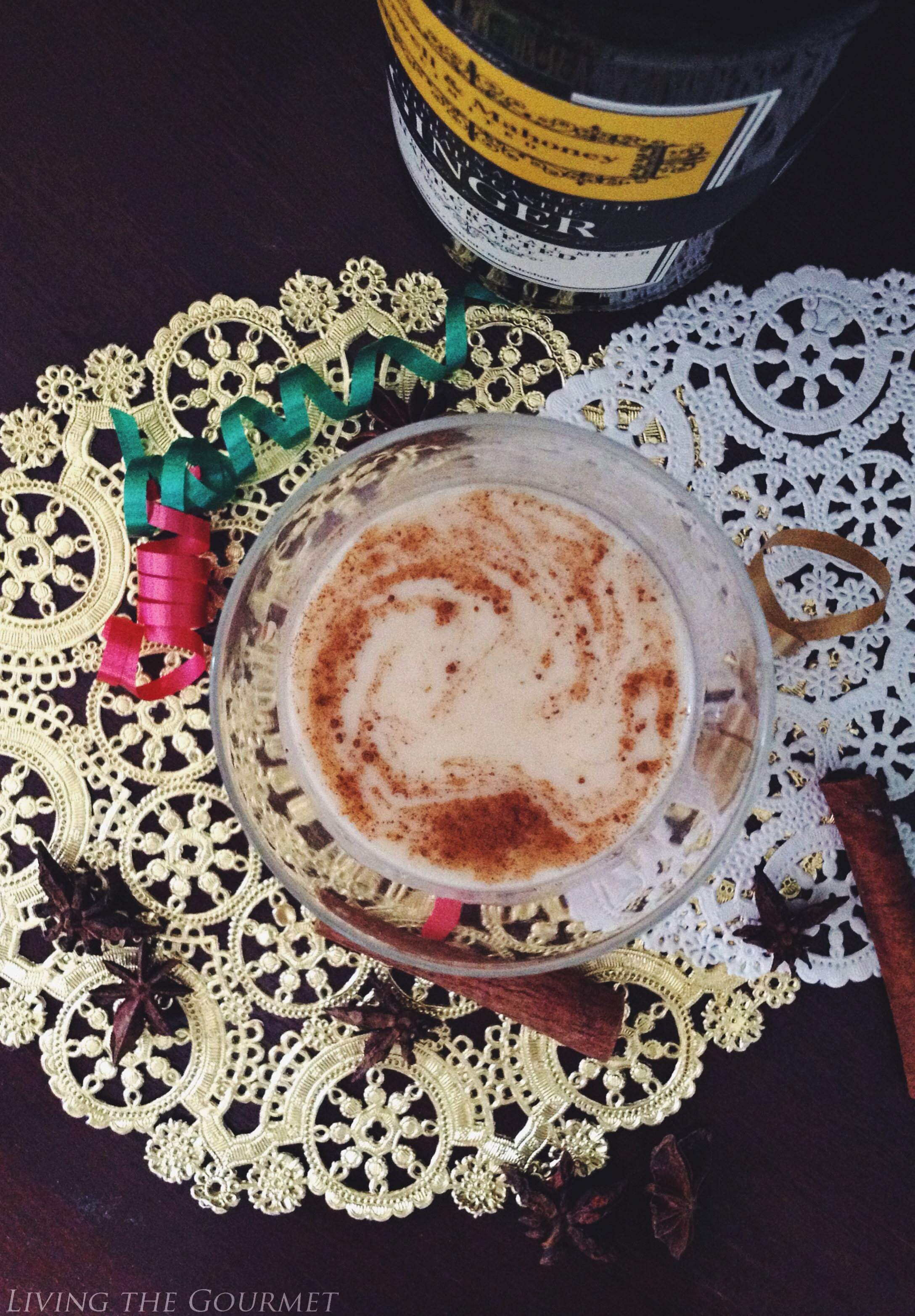 Living the Gourmet: Spiced Ginger Eggnog