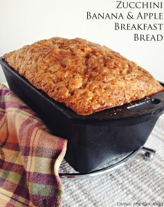 Zucchini, Banana & Apple Breakfast Bread