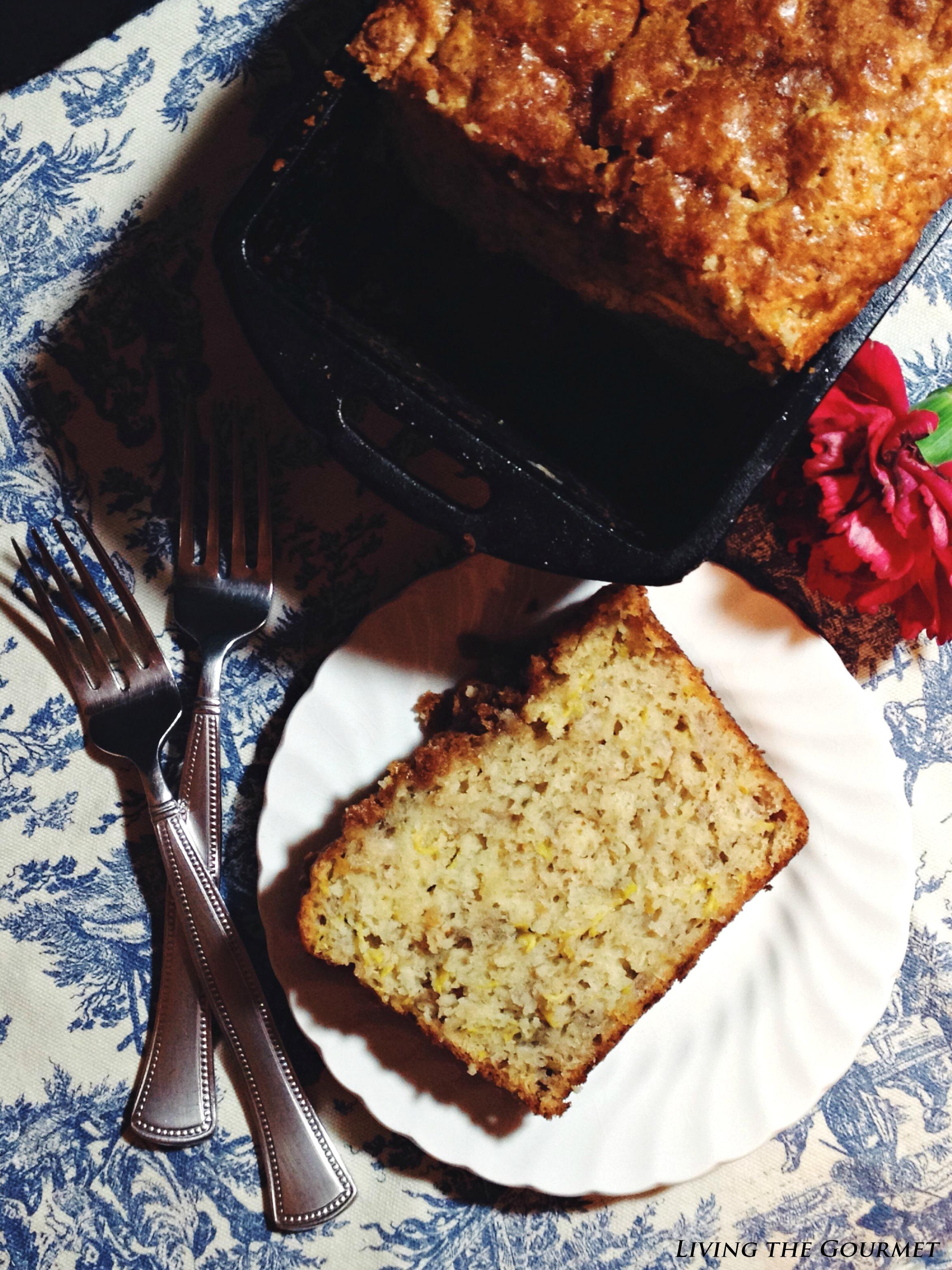 Living the Gourmet: Zucchini, Banana & Apple Breakfast Bread