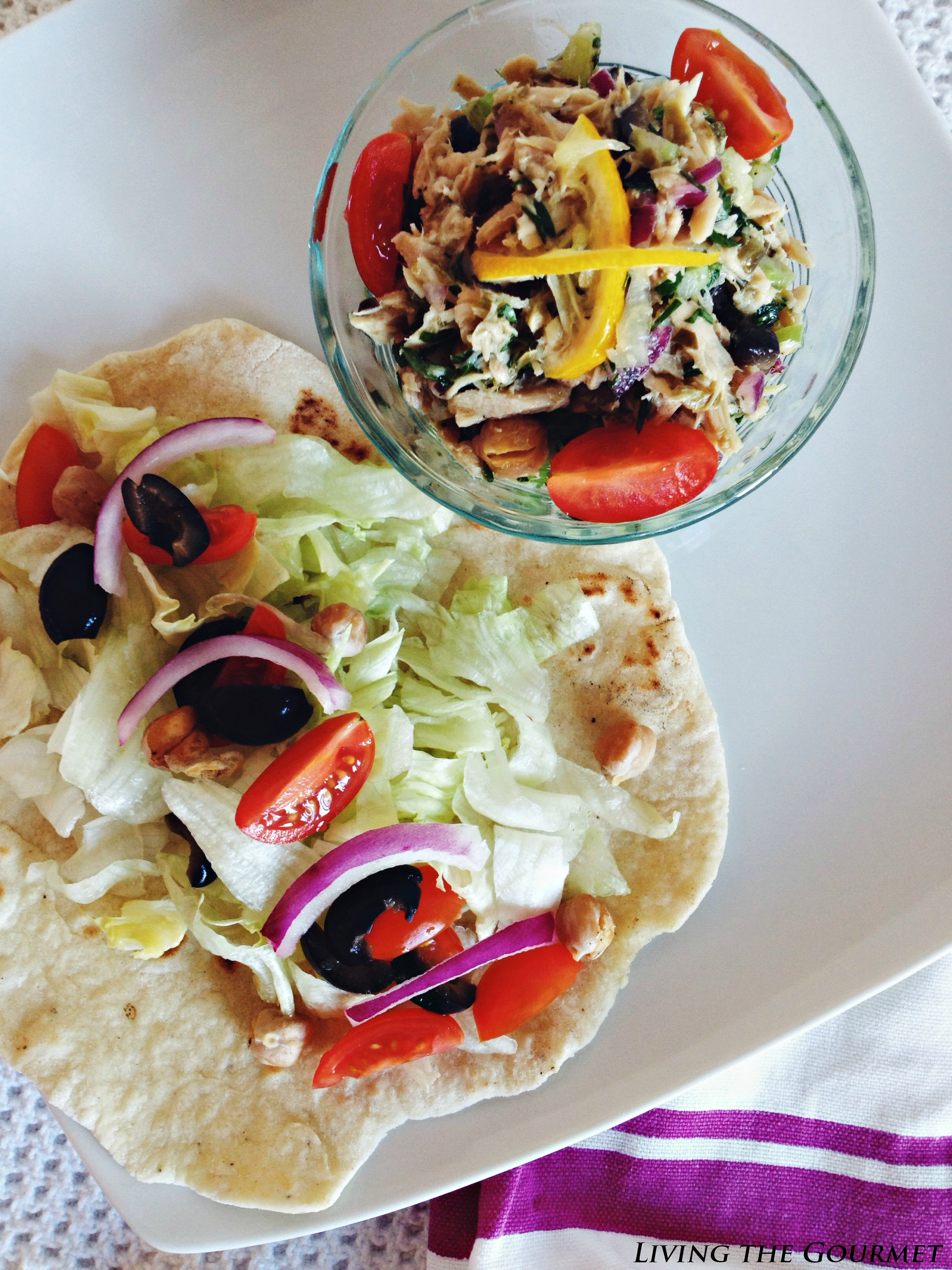 Living the Gourmet: Bumble Beed - New Year, New You / Healthy Tuna Salad w/ Fresh Flatbread