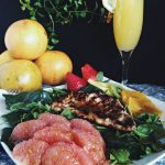 Grilled Chicken Citrus Salad with Balsamic Vinaigrette featuring  Florida Grapefruit