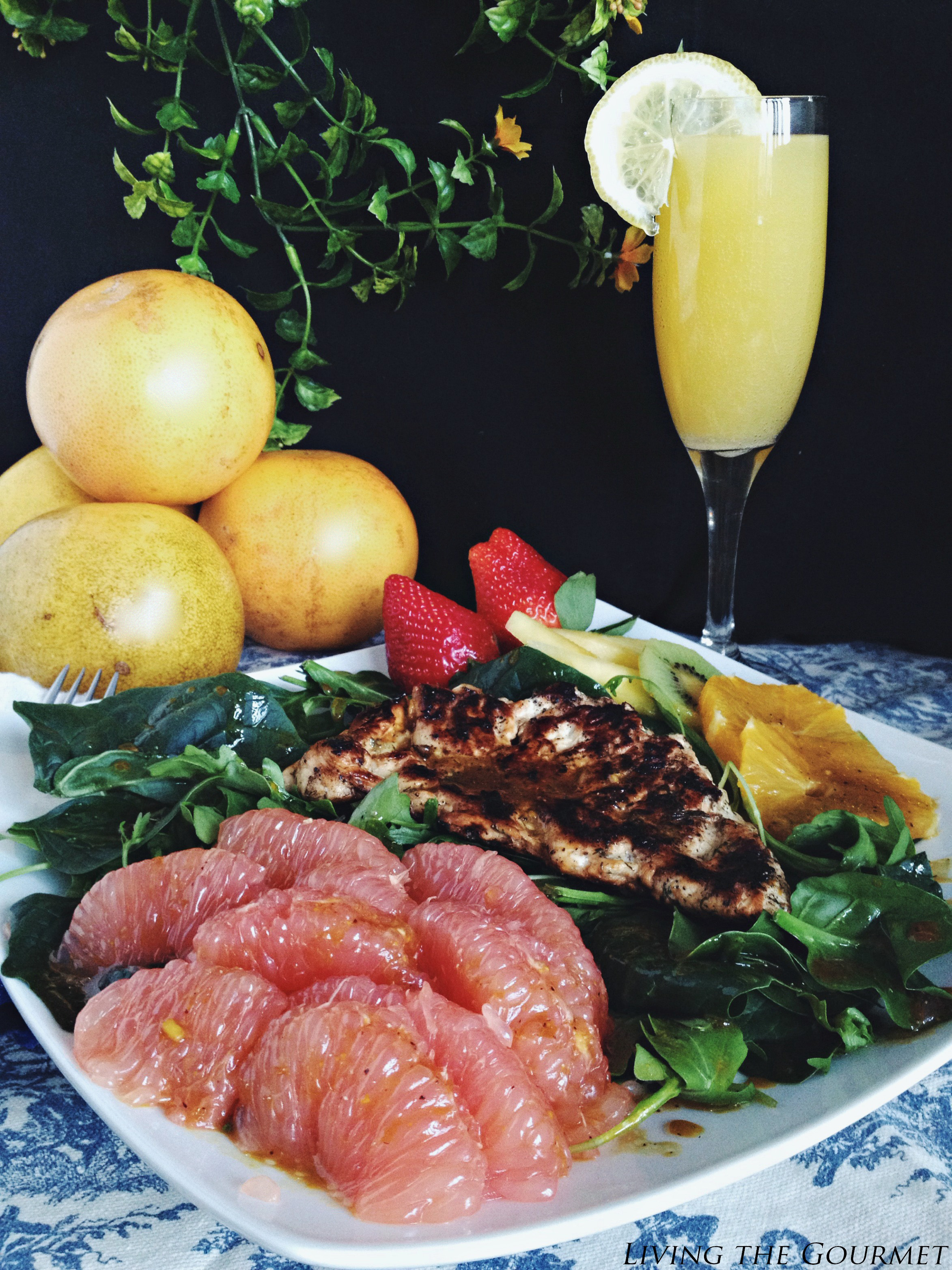 Living the Gourmet: Grilled Chicken Citrus Salad with Balsamic Vinaigrette