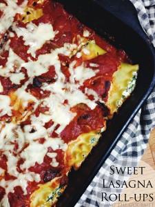 Sweet Meatless Lasagna Roll-Ups