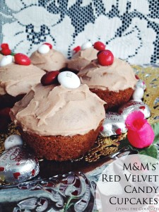 M&M's® Red Velvet Candy Cupcakes