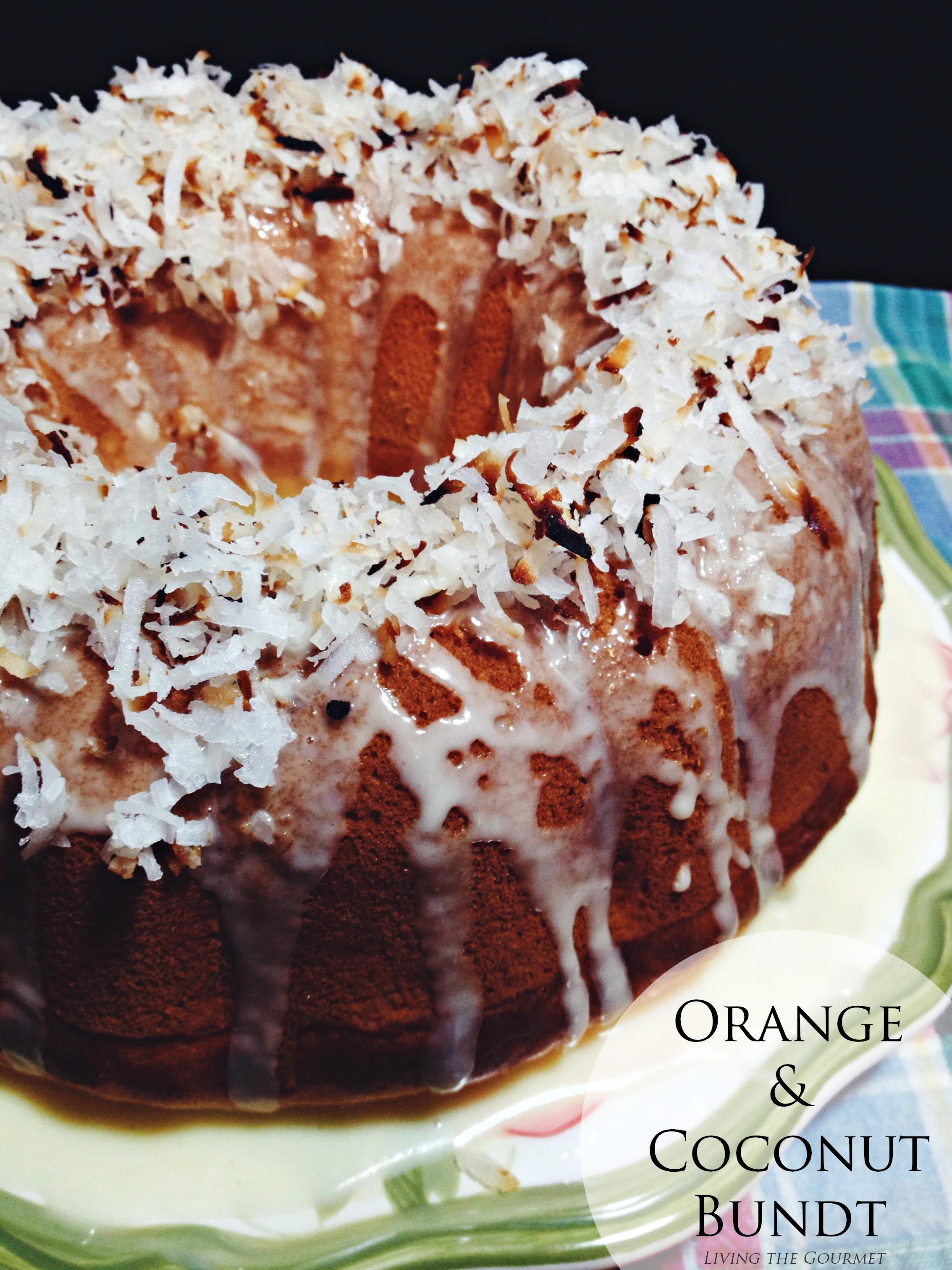 Orange & Coconut Bundt #BundtBakers
