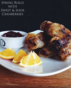 Spring Rolls w/ Sweet & Sour Cranberries