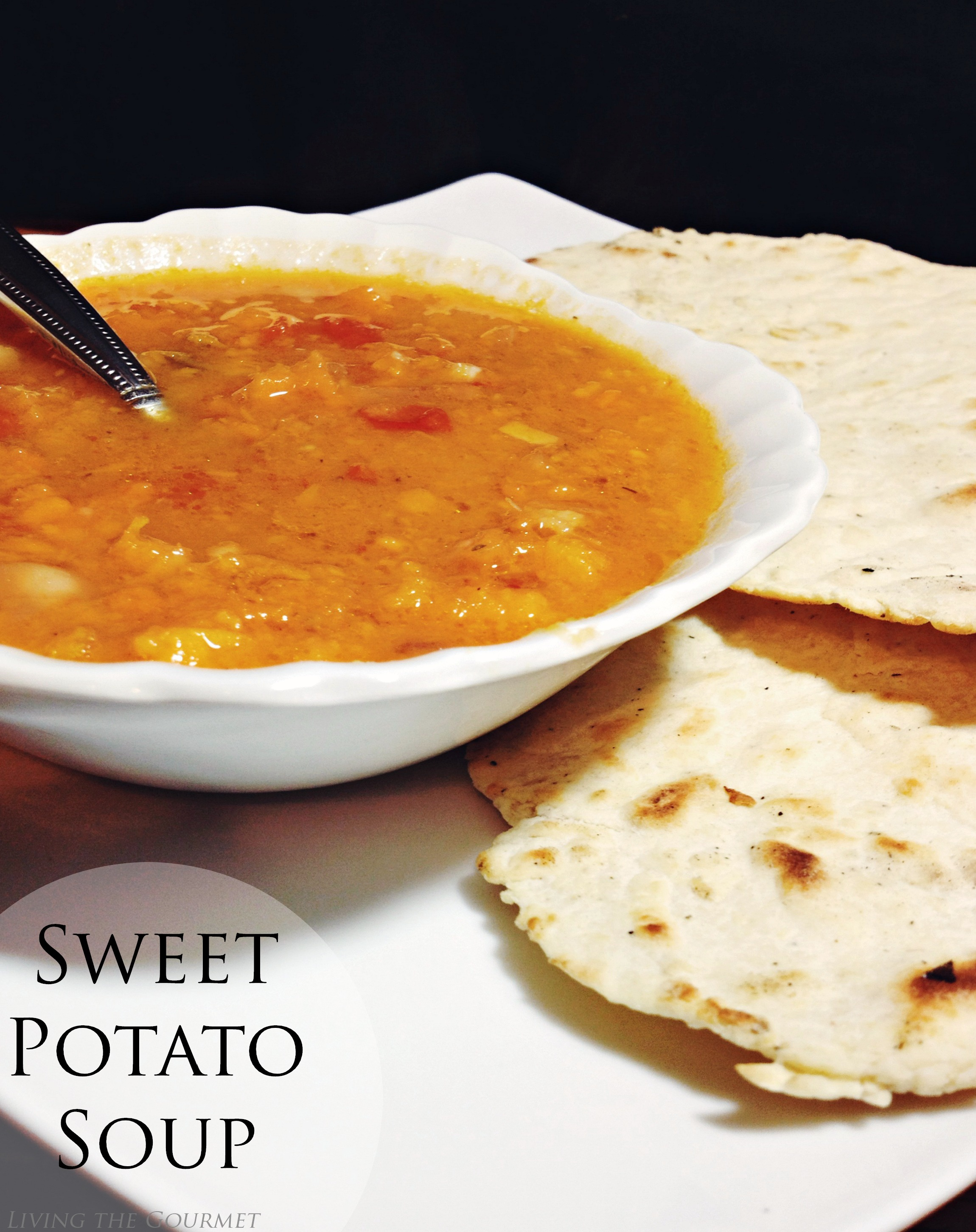 Living the Gourmet:  Sweet Potato Soup