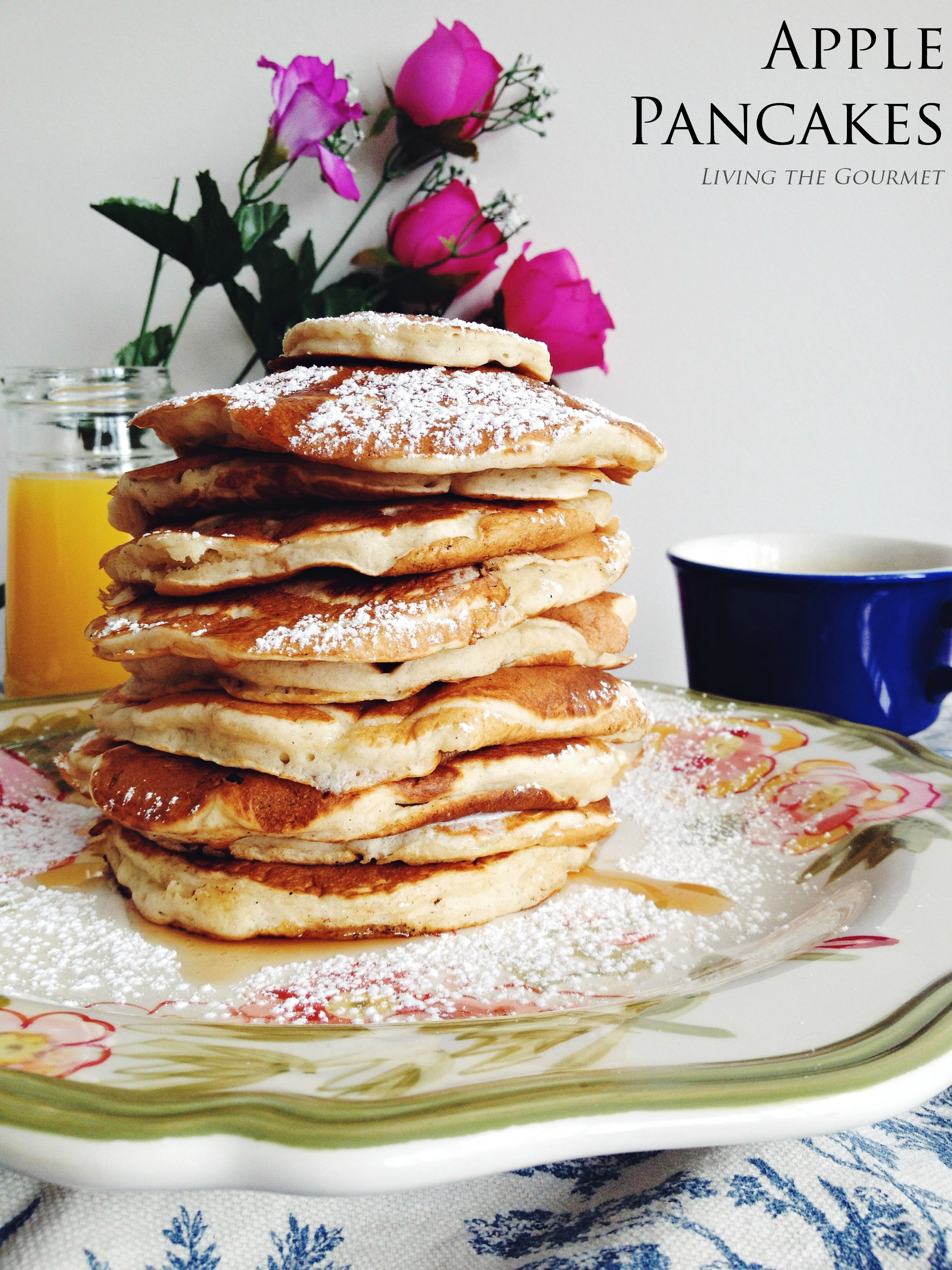 Apple Pancakes | Living The Gourmet | Bloglovin'