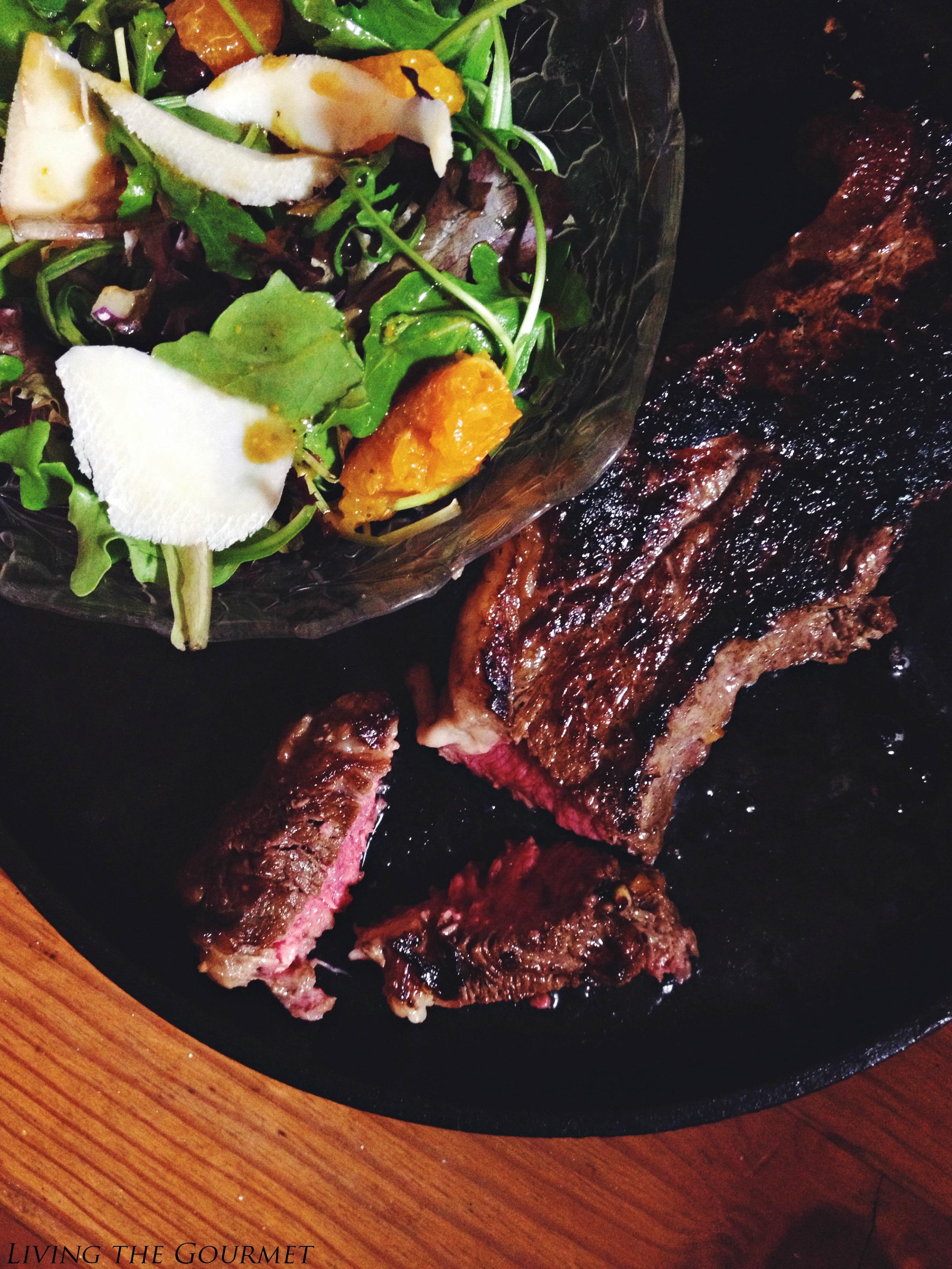 Korean Style Marinated Boneless Shell Steak Living The Gourmet