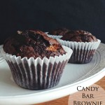 Candy Bar Brownie Cupcakes