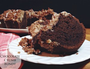 Chocolate Crumb Bundt #BundtBakers