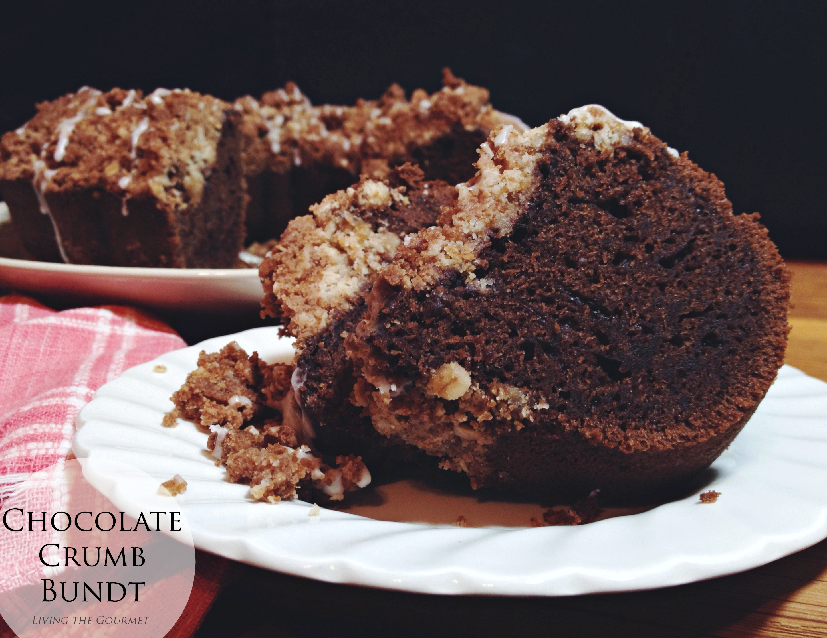 Chocolate Crumb Bundt #BundtBakers - Living The Gourmet