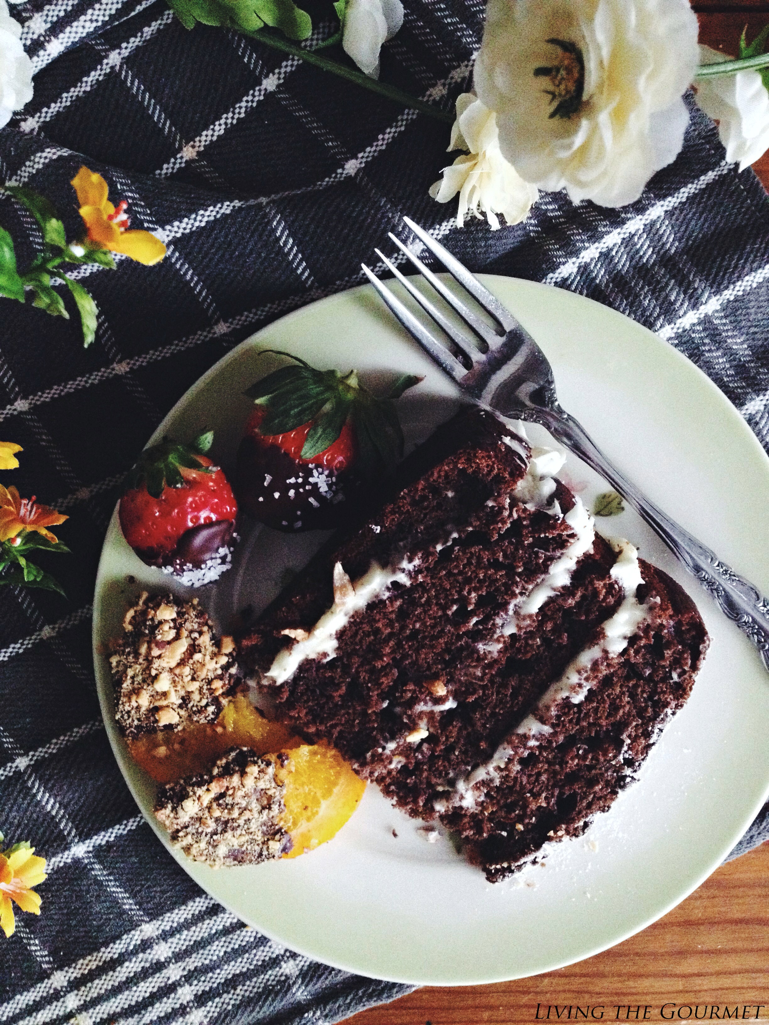 Living the Gourmet: Classic Chocolate Cake & Candied Oranges