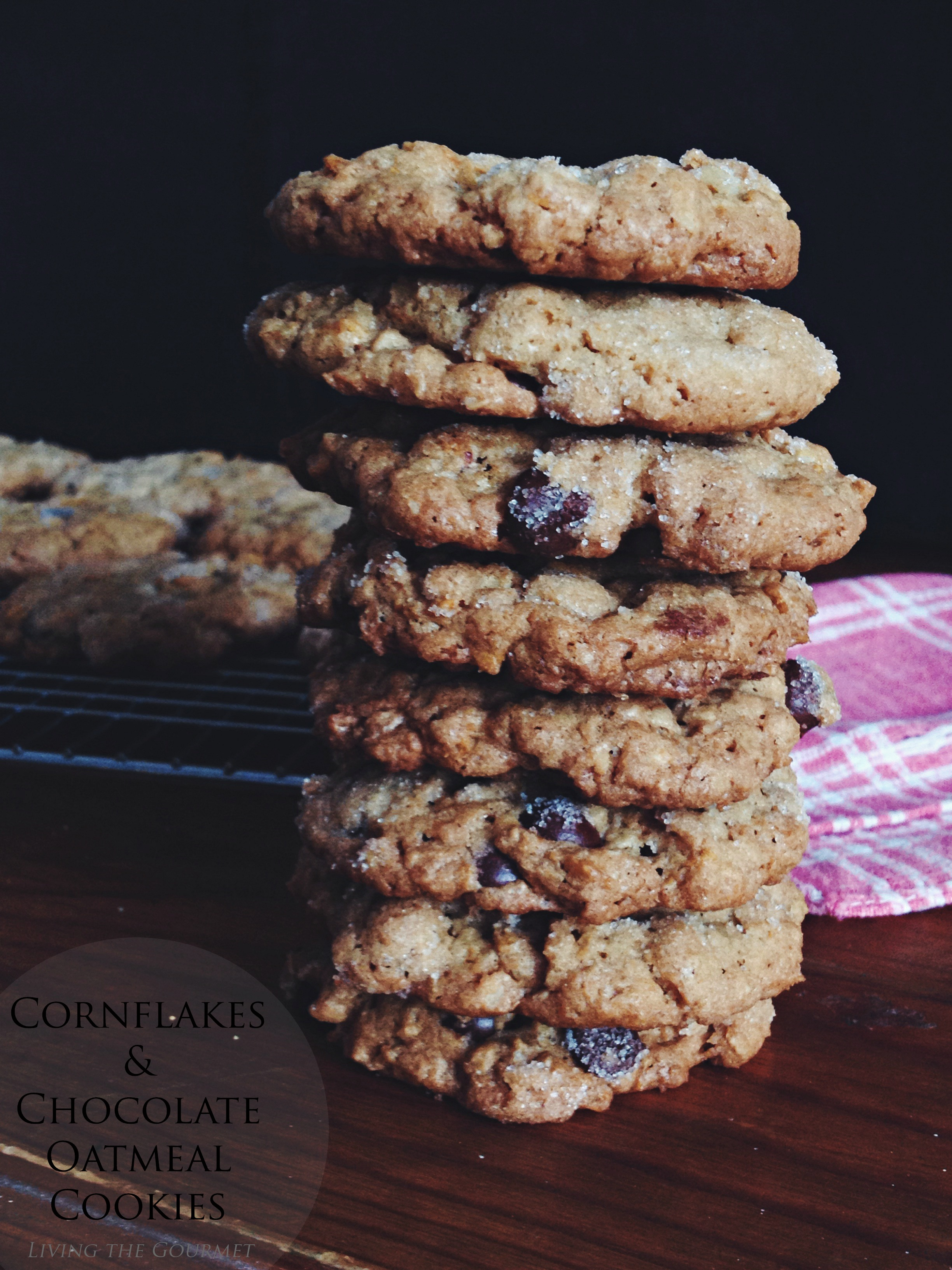 Living the Gourmet: Cornflakes & Chocolate Oatmeal Cookies