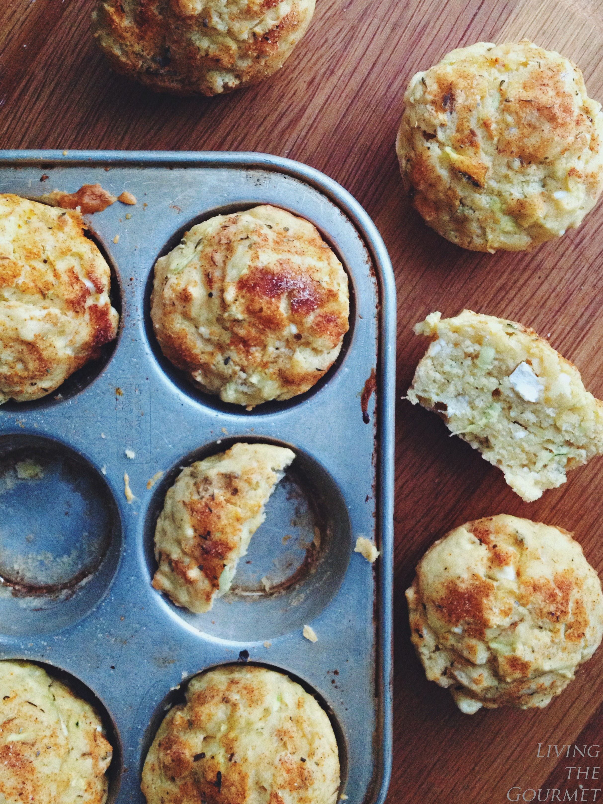 Living the Gourmet: Feta and Jalapeño Corn Muffins
