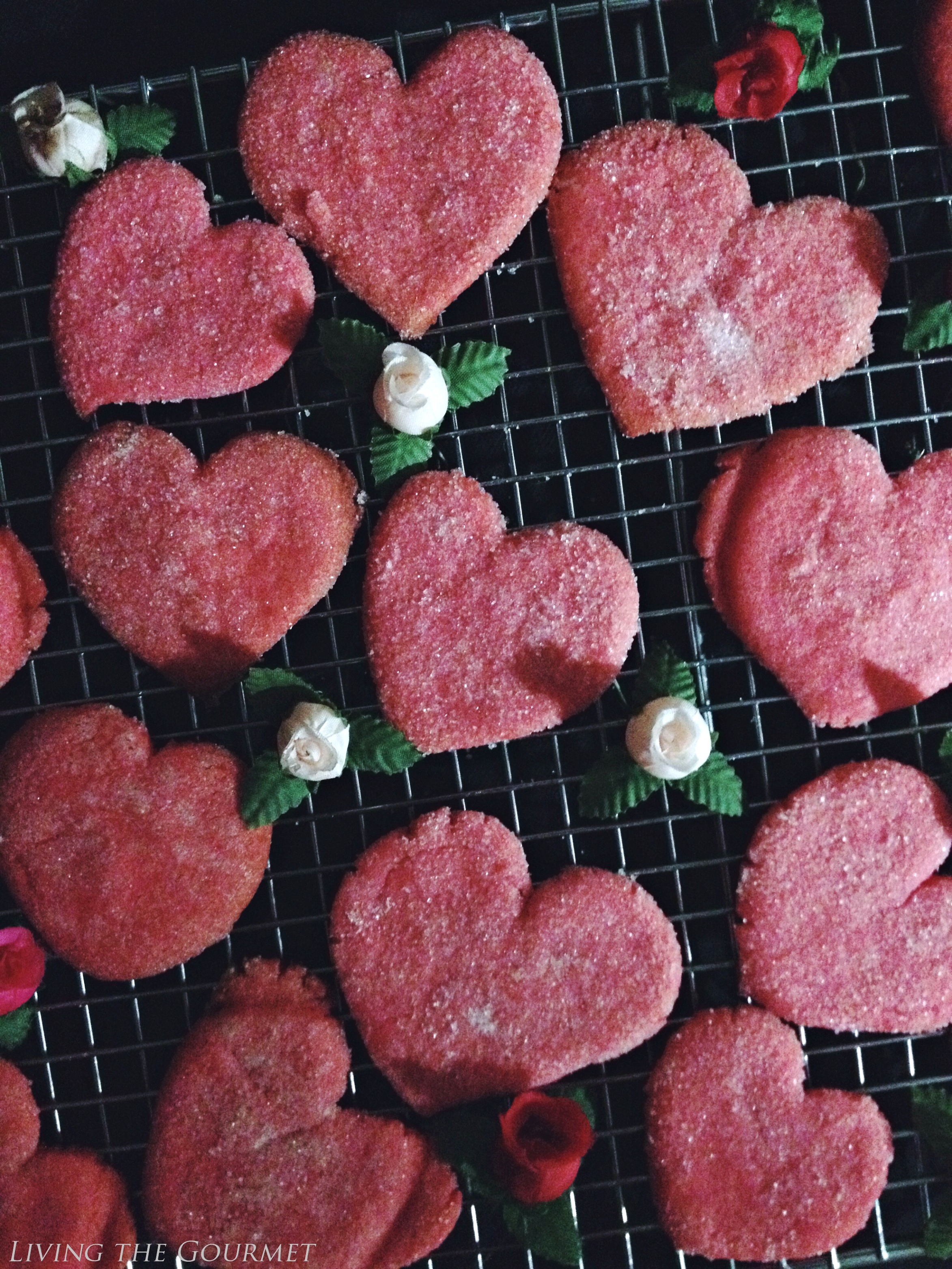 Living the Gourmet: Jell-O Valentine's Day Cookies
