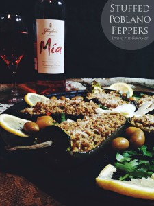 Stuffed Poblano Peppers with Mia Rosé