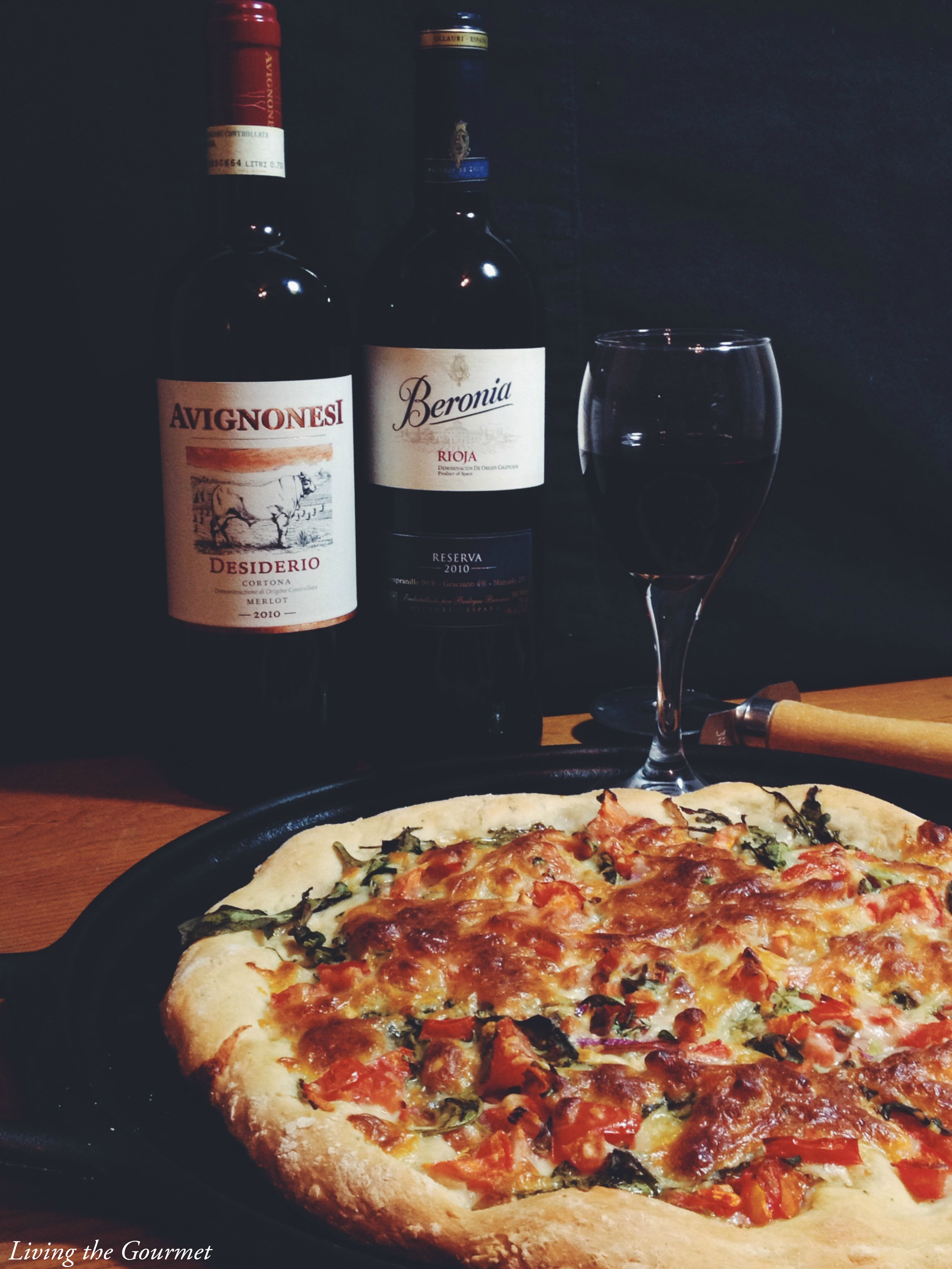 Living the Gourmet: Wine Pairings & Arugula Pizza
