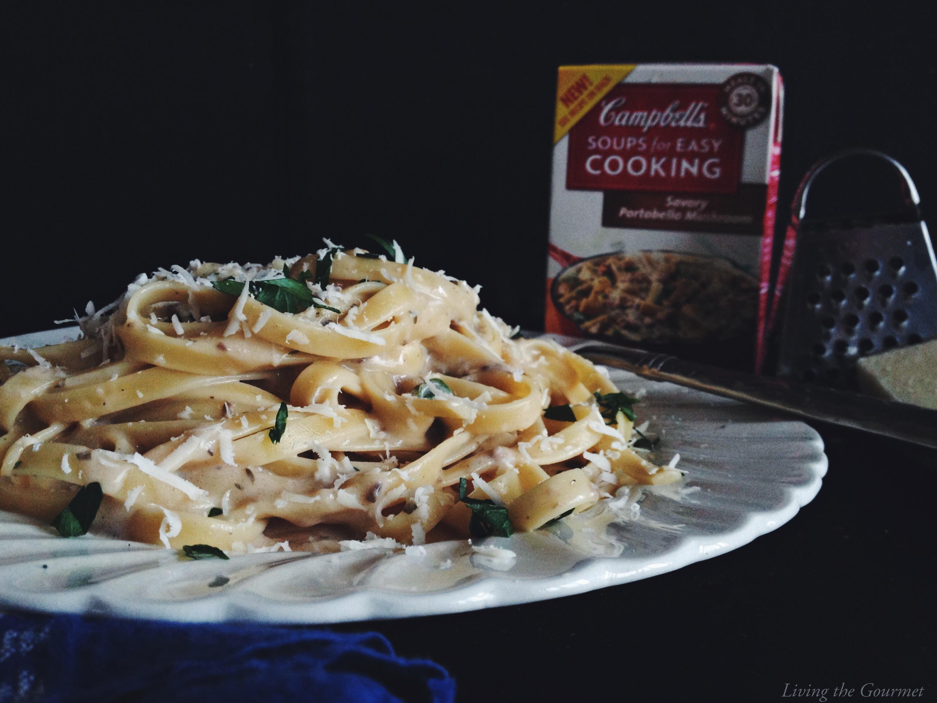 Living the Gourmet: Portobello Mushroom Fettuccine Alfredo