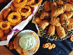 Cheez-It Crusted Jalapeño Poppers & Onion Rings