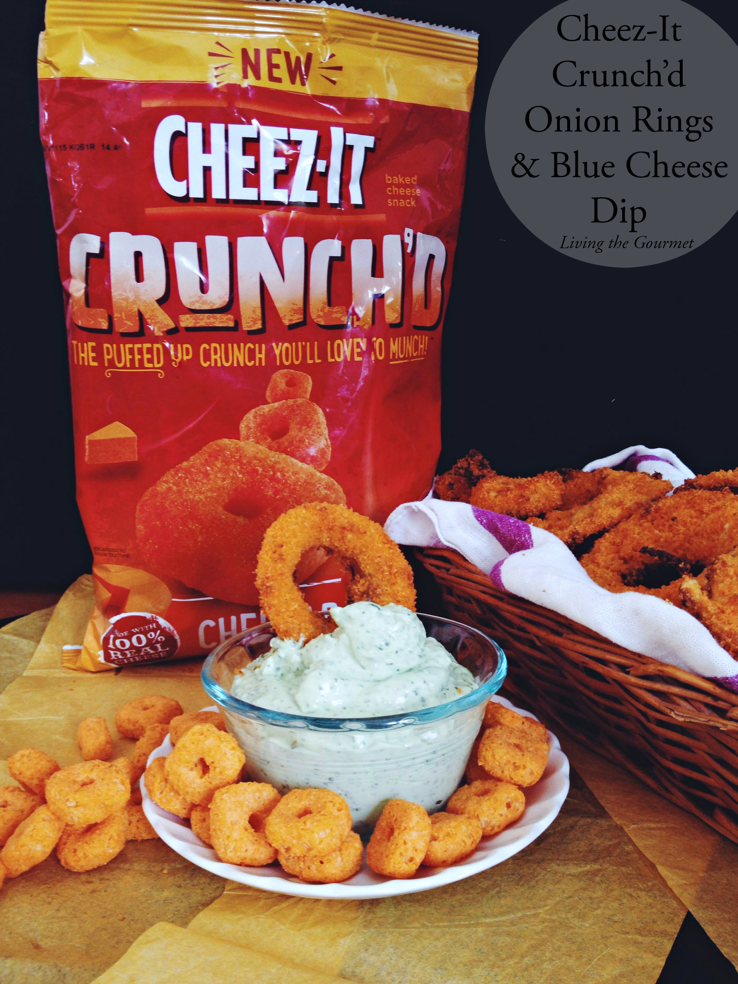 Living the Gourmet: Cheez-It Crusted Jalapeño Poppers & Onion Rings