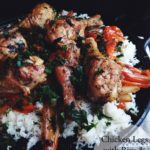Chicken Legs with Rice and Peppers