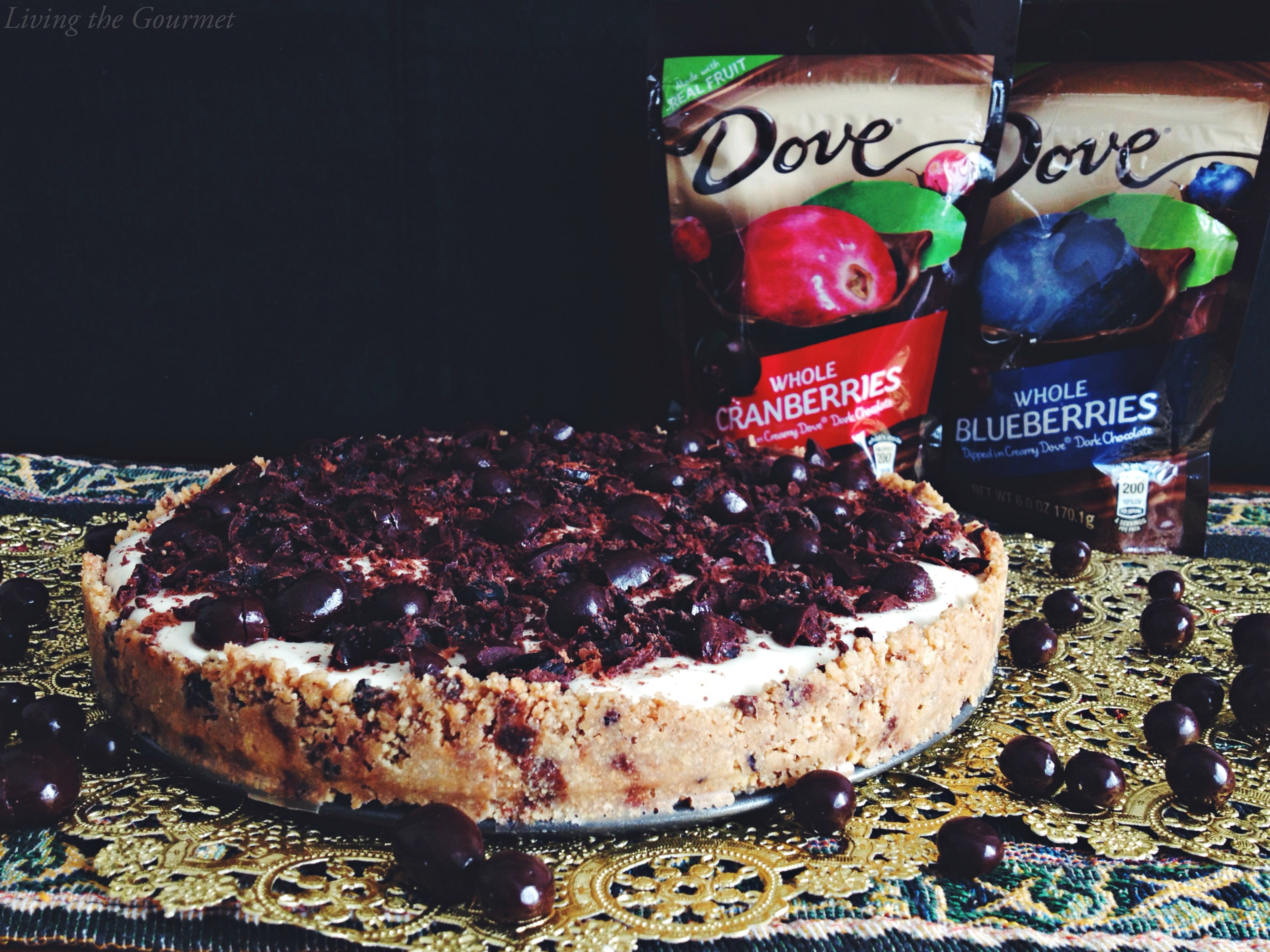 Living the Gourmet: No-Bake Cheesecake with DOVE® Fruit