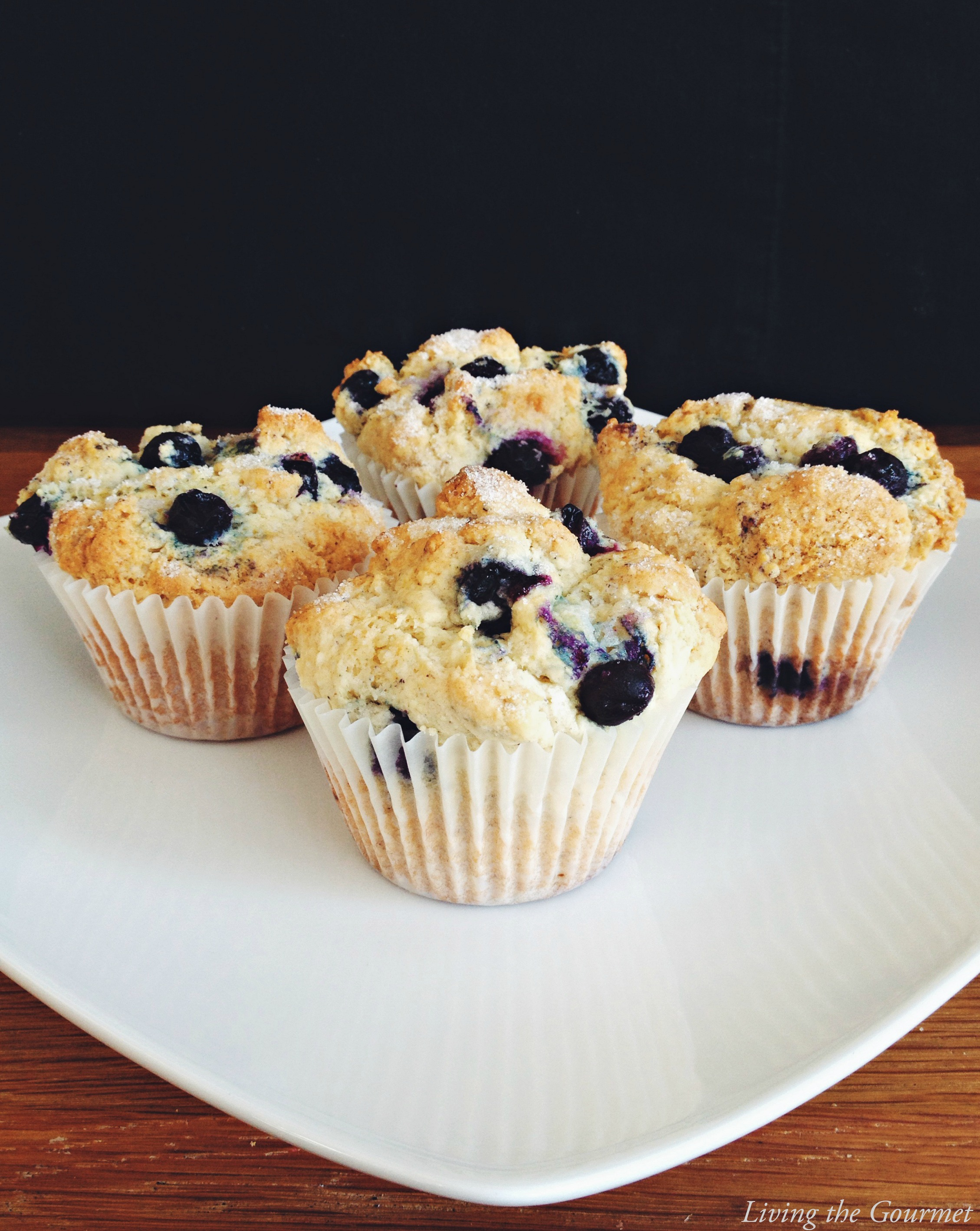 Living the Gourmet: Easy Blueberry Muffins