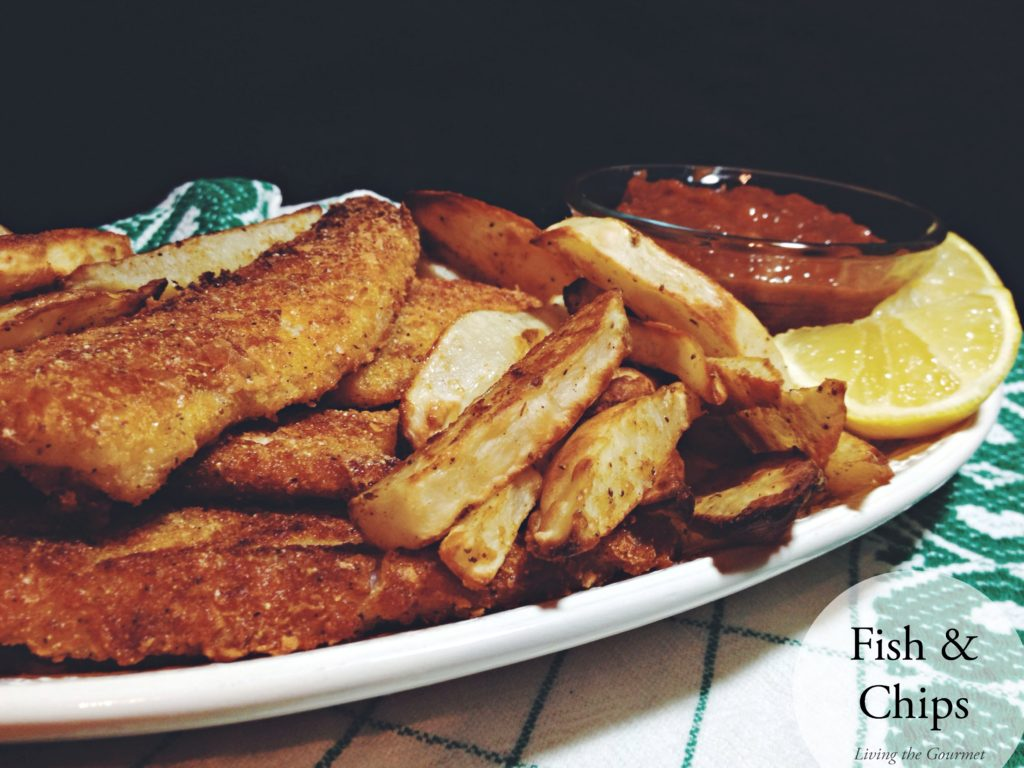 Fish and chips living the gourmet for Baked fish and chips