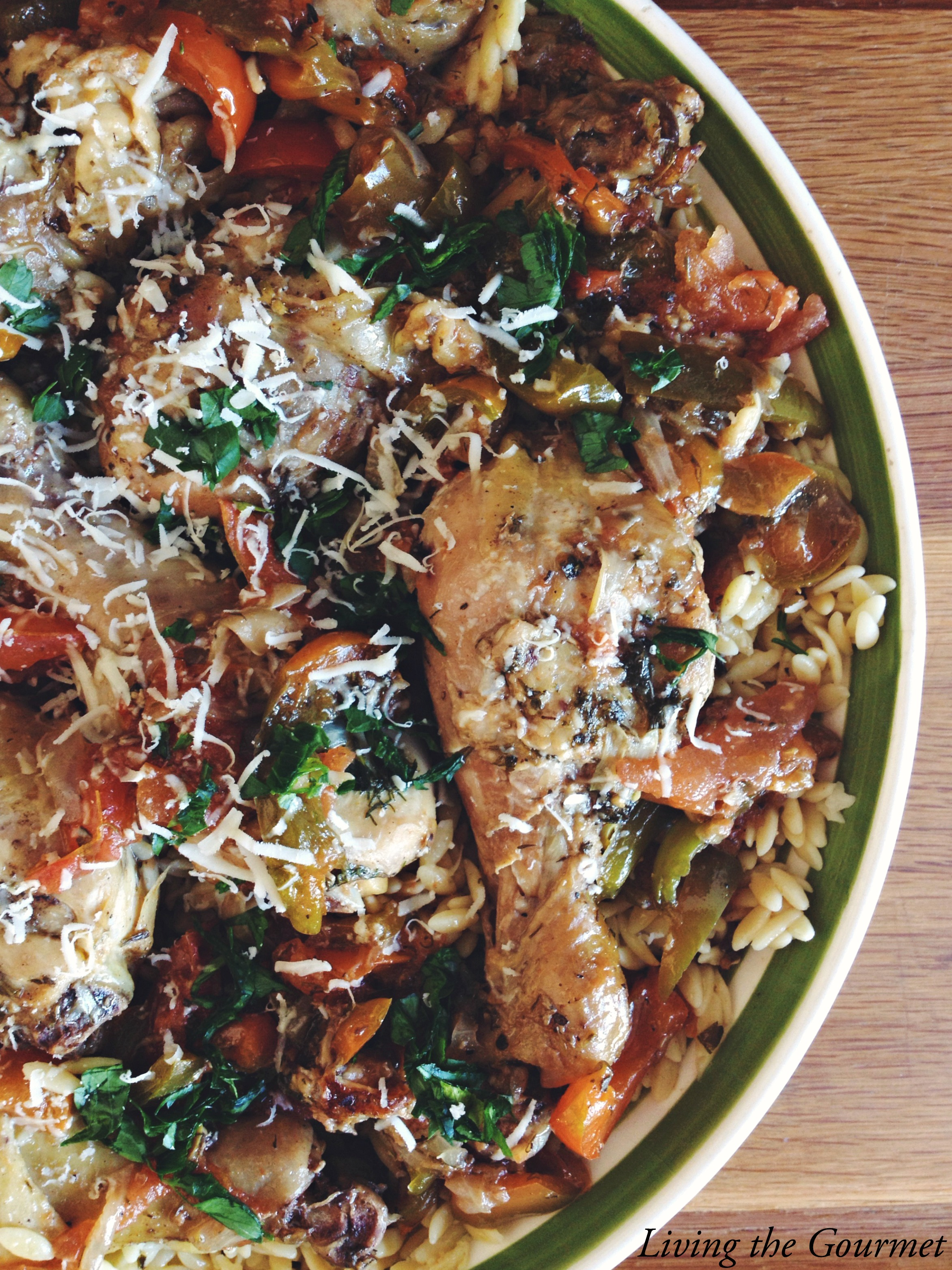 Living the Gourmet: Greek Style Chicken with Orzo