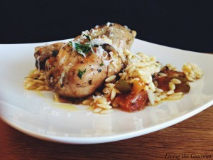 Greek Style Chicken with Orzo