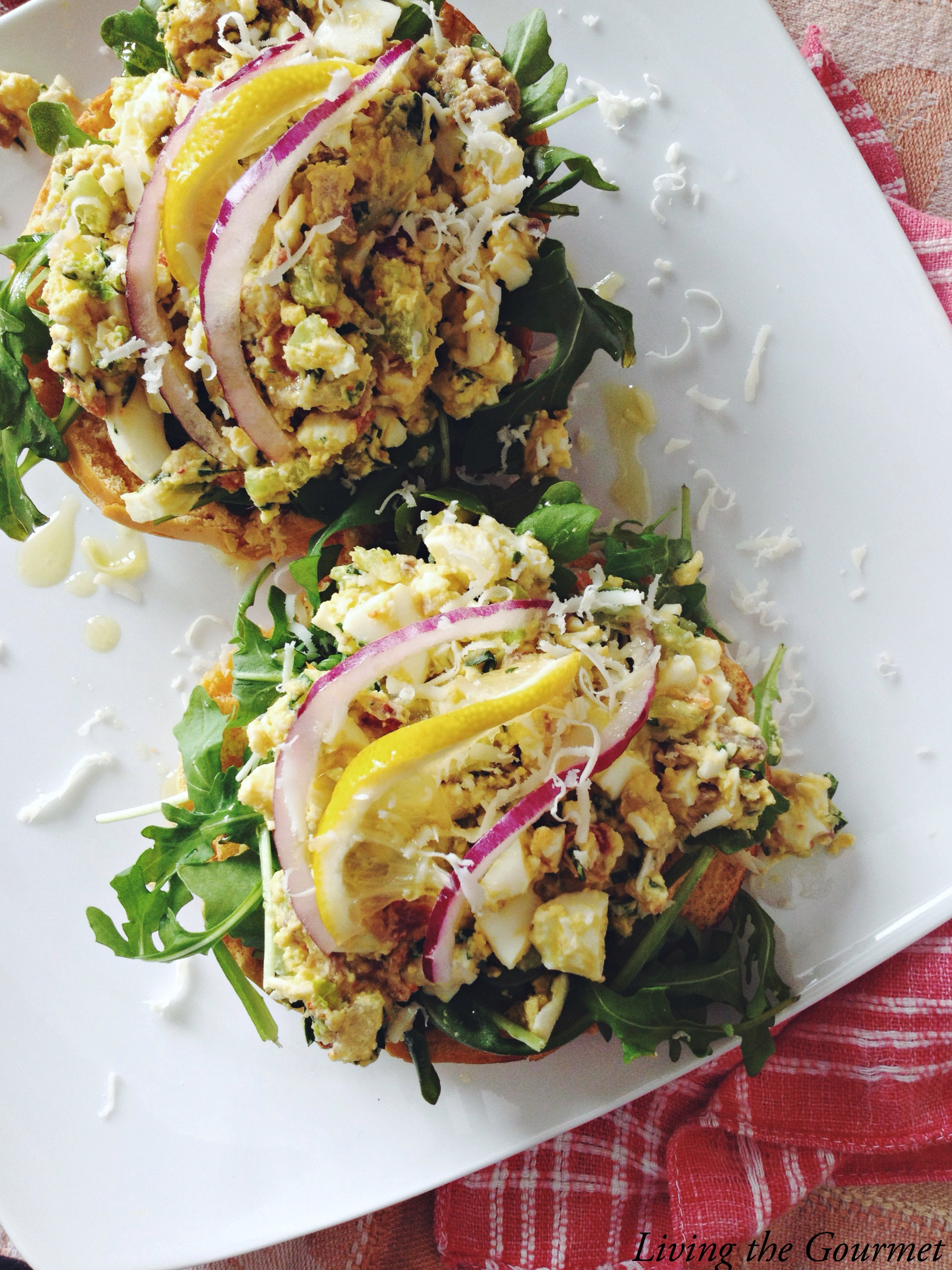 Living the Gourmet: Mediterranean Style Egg Salad
