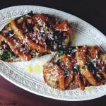 Roasted Peppers & Eggplant Crostini