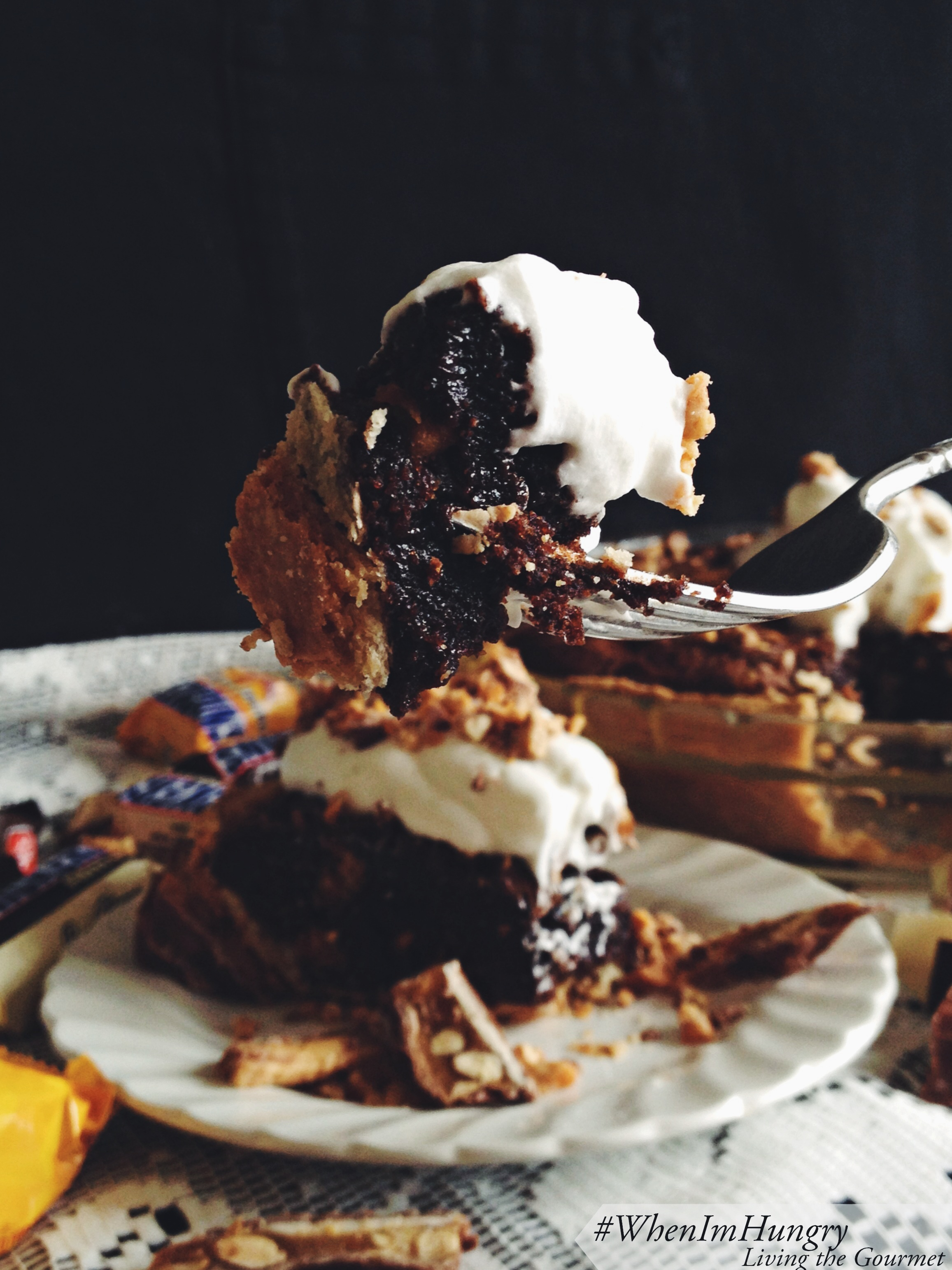Living the Gourmet: SNICKERS® Brownie Pie