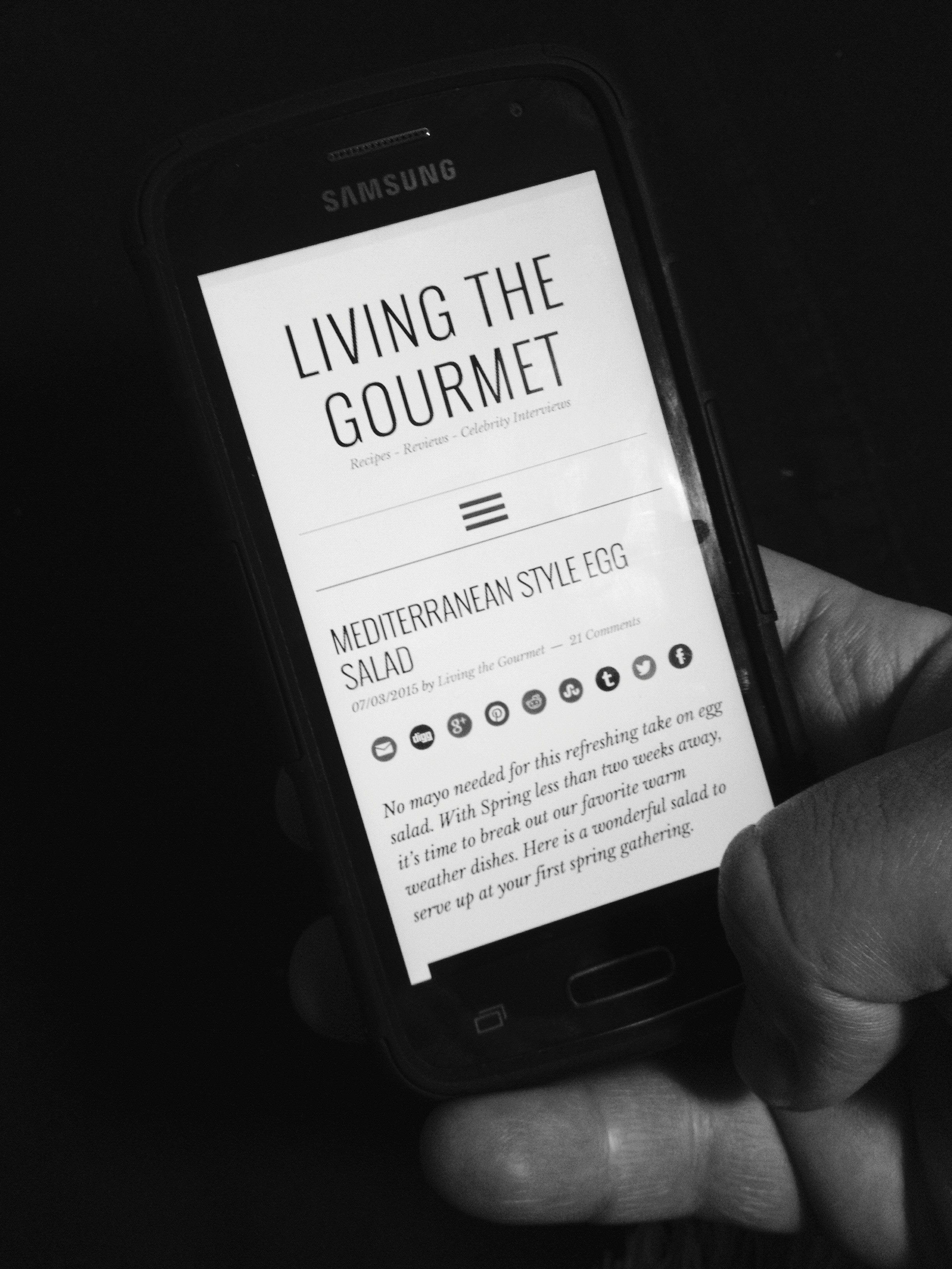Living the Gourmet: Blogging Behind the Scenes