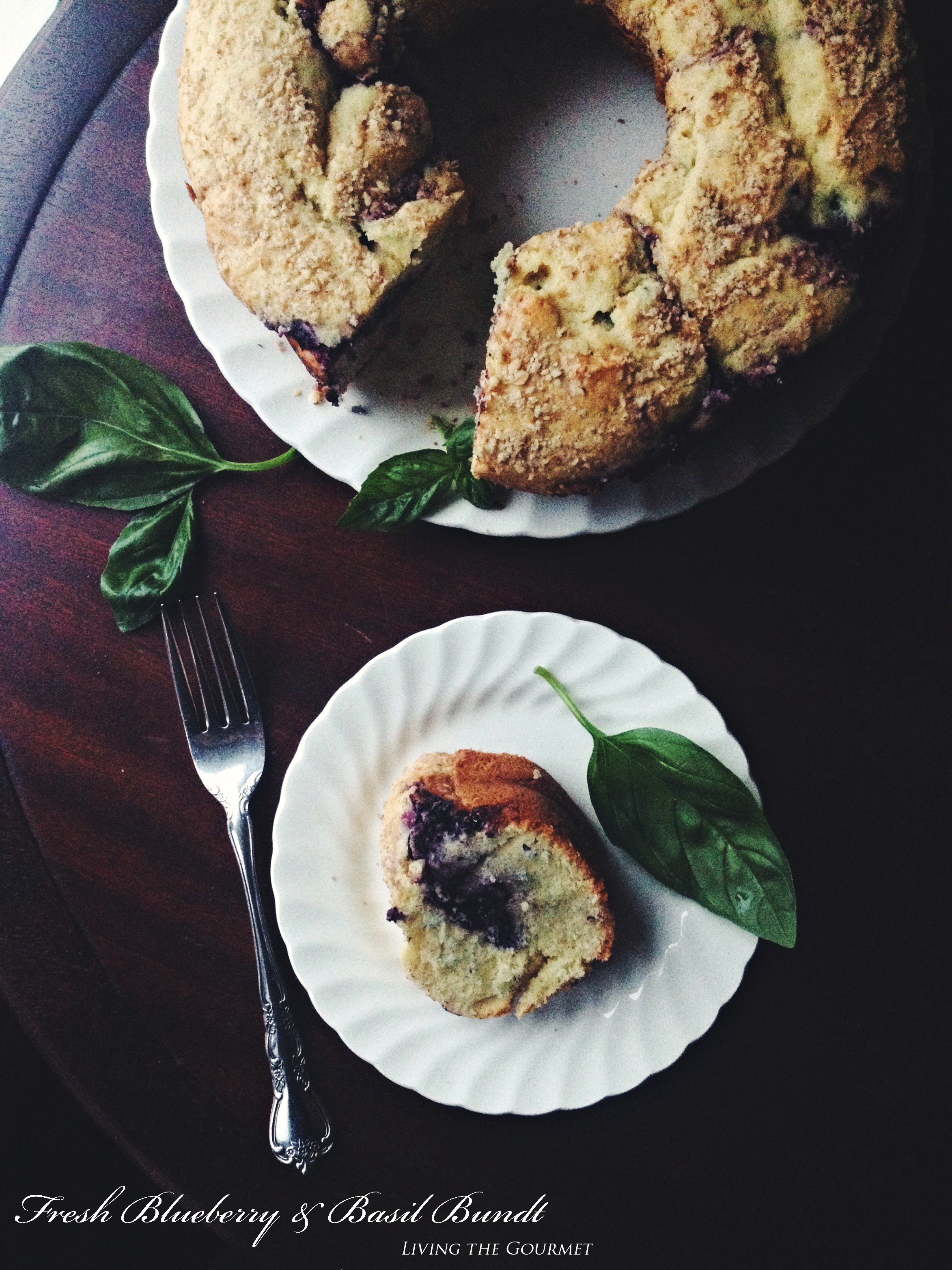 Living the Gourmet: Fresh Blueberry and Basil Bundt