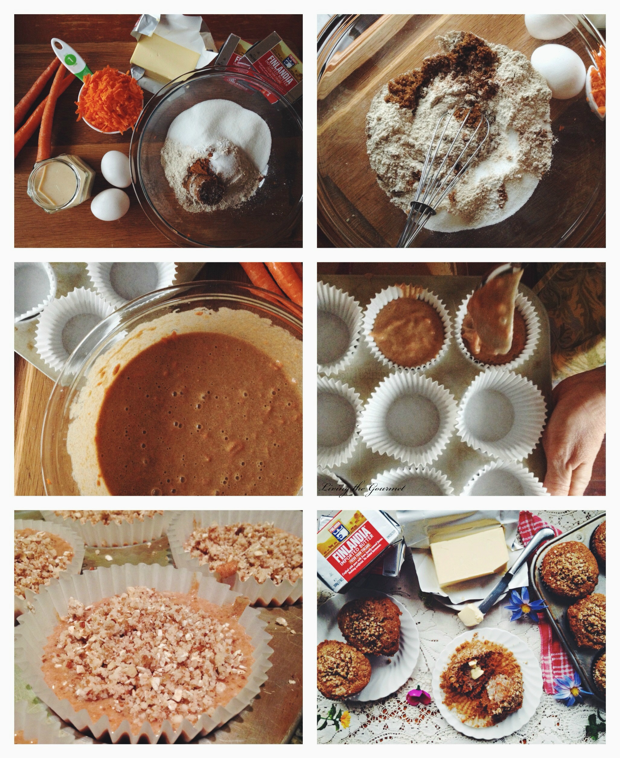 Living the Gourmet: Carrot Spelt Muffins & $25 Giveaway