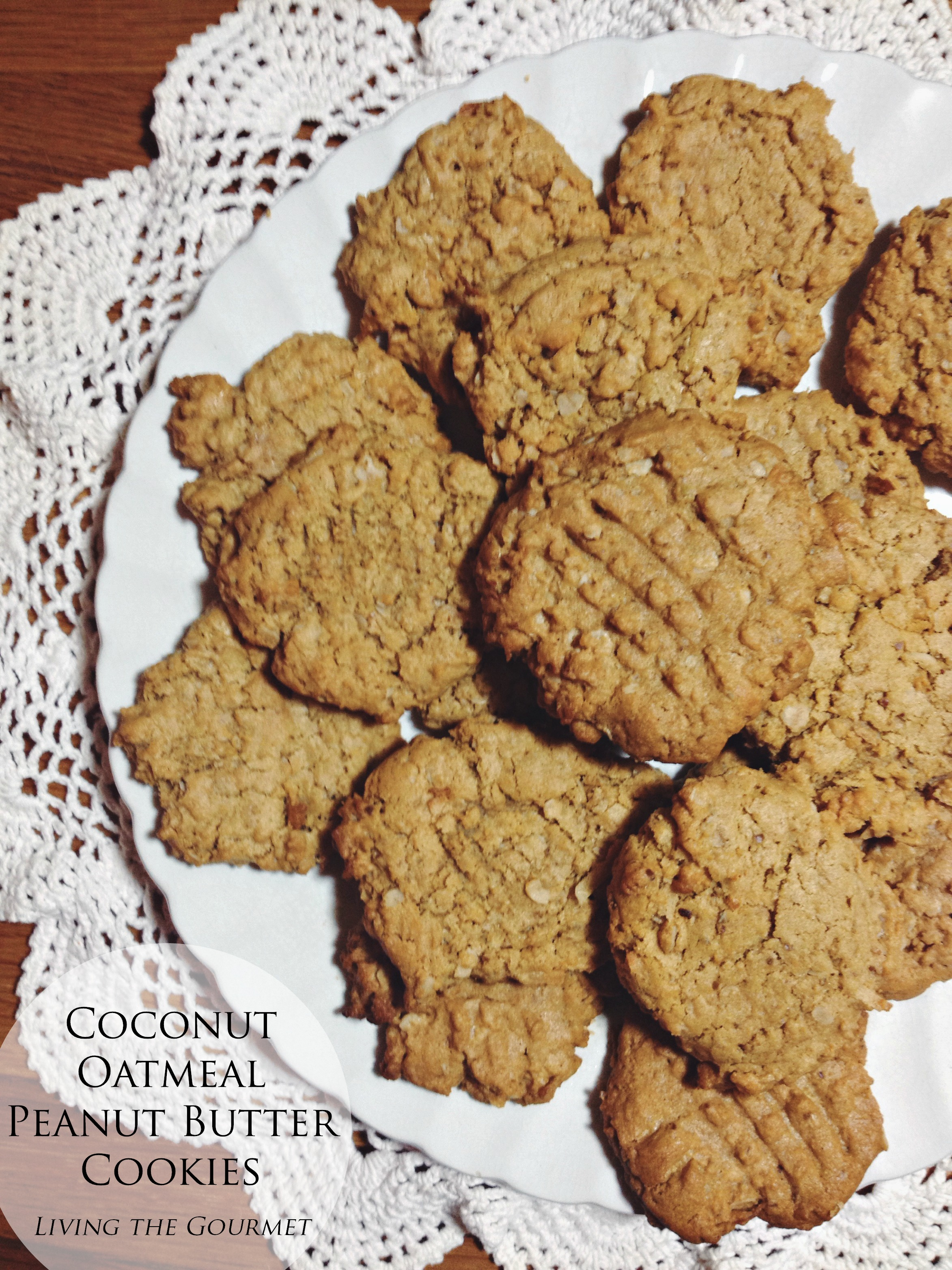 Living the Gourmet: Coconut Peanut Butter Cookies