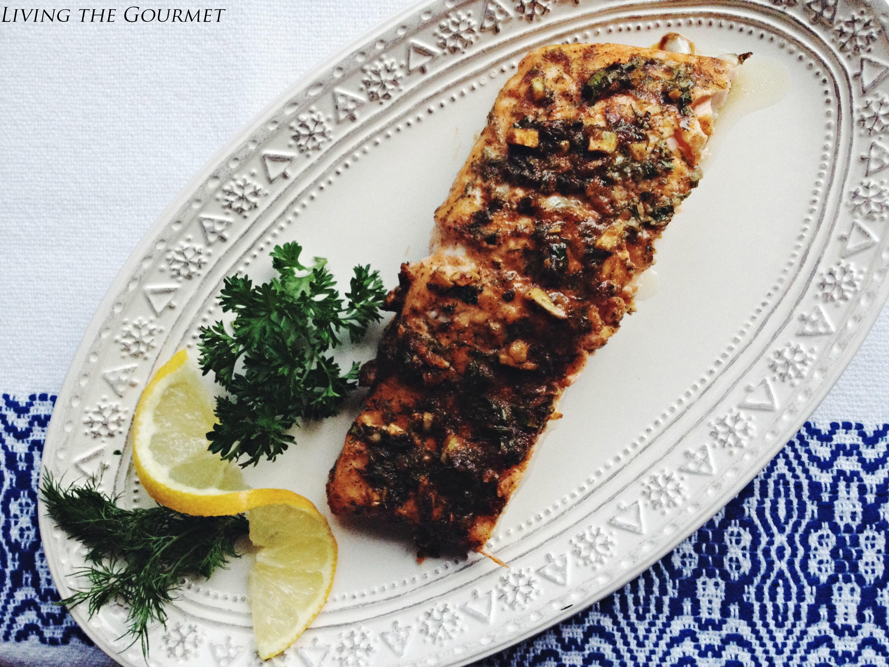 Living the Gourmet: Fresh Baked Salmon Filet