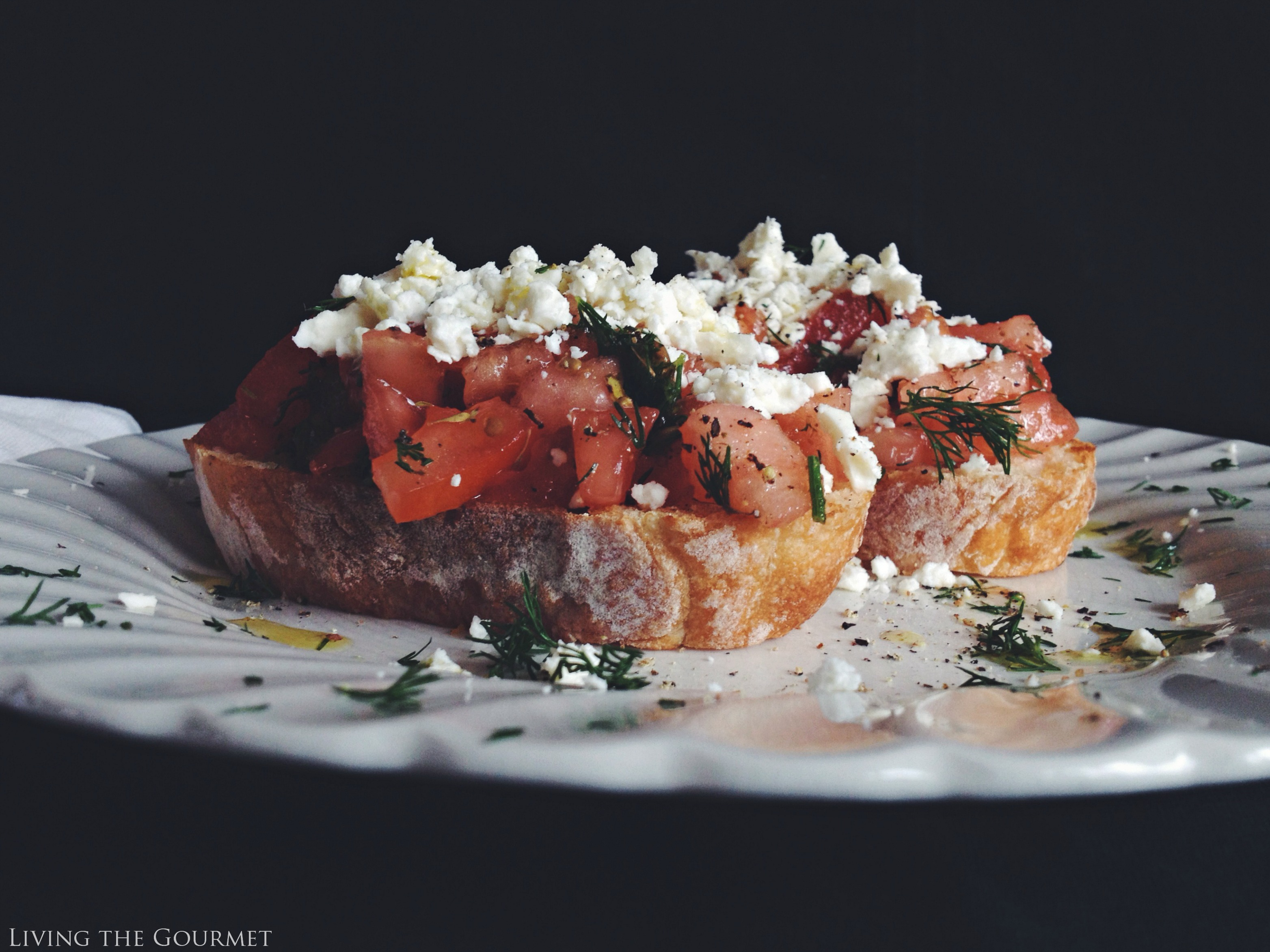 Living the Gourmet: Dakos (DAH-kohs) Greek Bruschetta