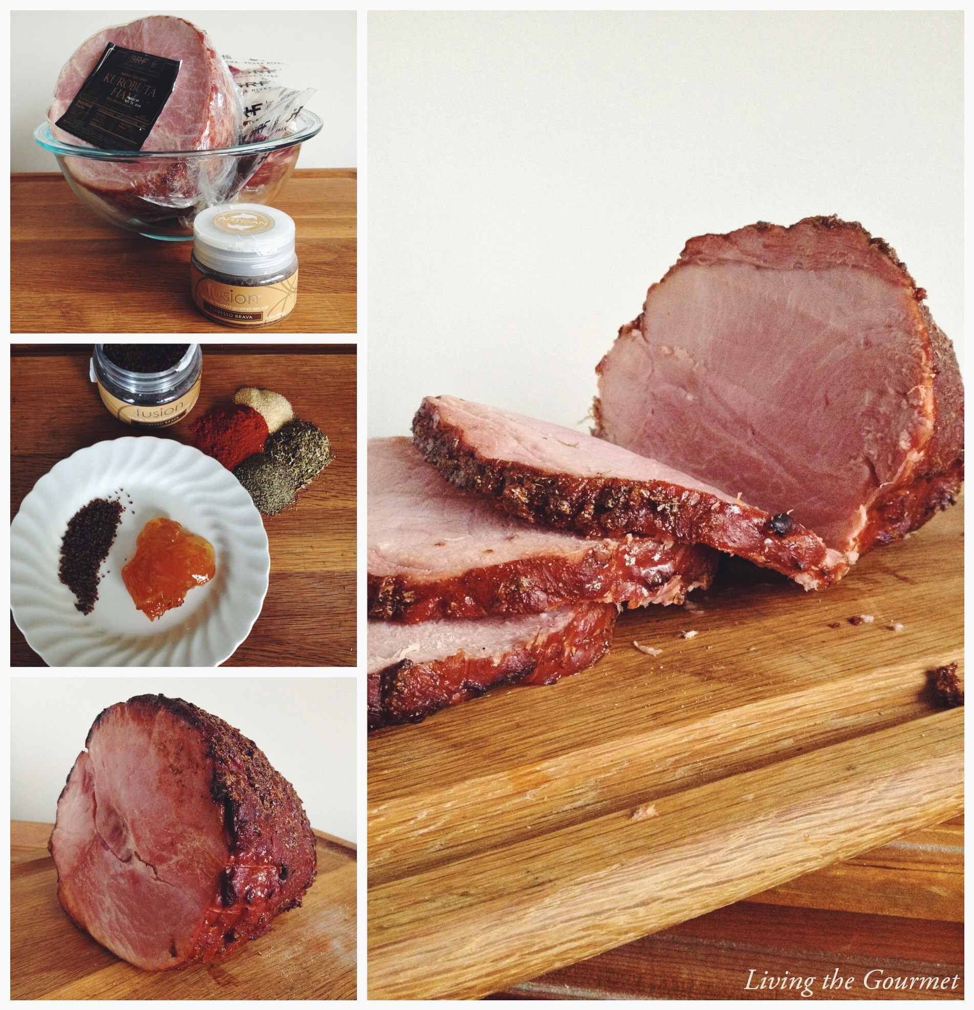 Living the Gourmet: Espresso Brava Filet Mignon & Kurobuta Ham