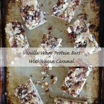 Vanilla Whey Protein Bars with Vegan Caramel