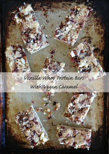 Vanilla Whey Protein Bars with Vegan Caramel
