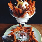 #SpringIntoFlavor:  Sweet Potato & Spinach Birds Nests, Portobello Burgers & a Sweet Potato Sundae