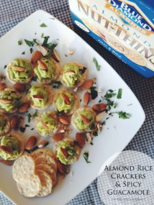 Almond Rice Crackers & Spicy Guacamole