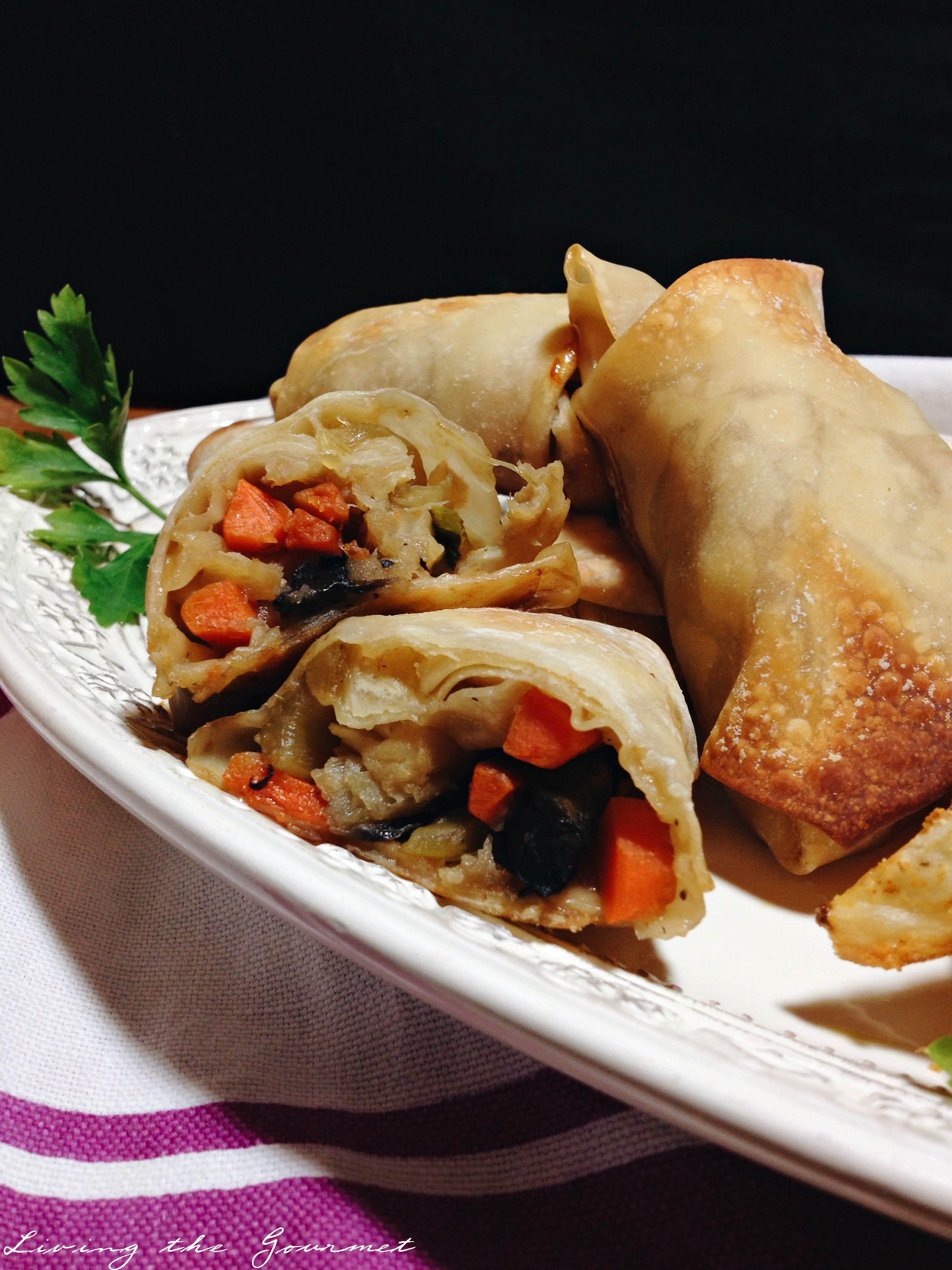 Living the Gourmet: Asian Beer Batter Fish Eggrolls & Chips
