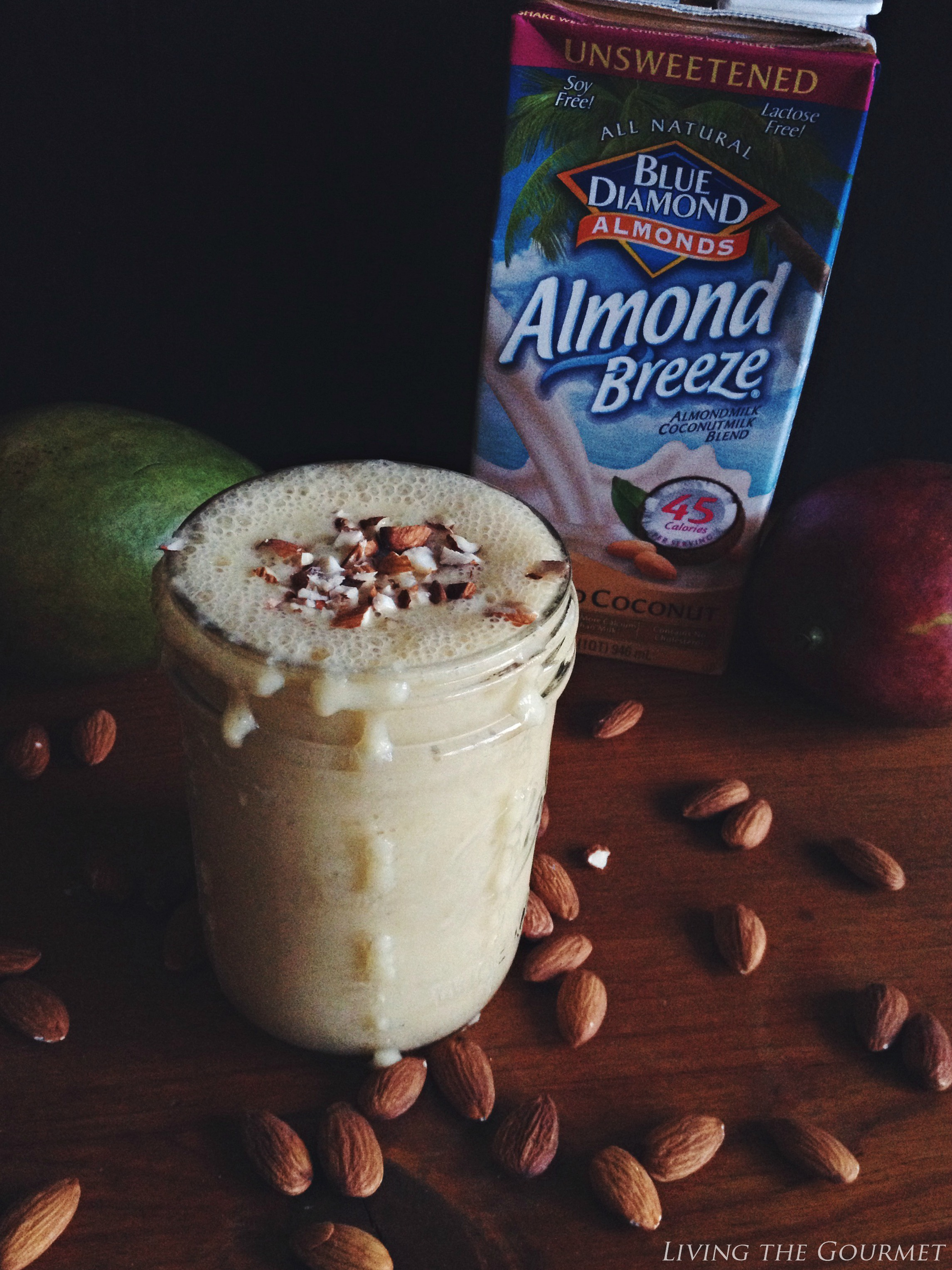 Living the Gourmet: Blue Diamond Almond Milk Tropical Smoothie