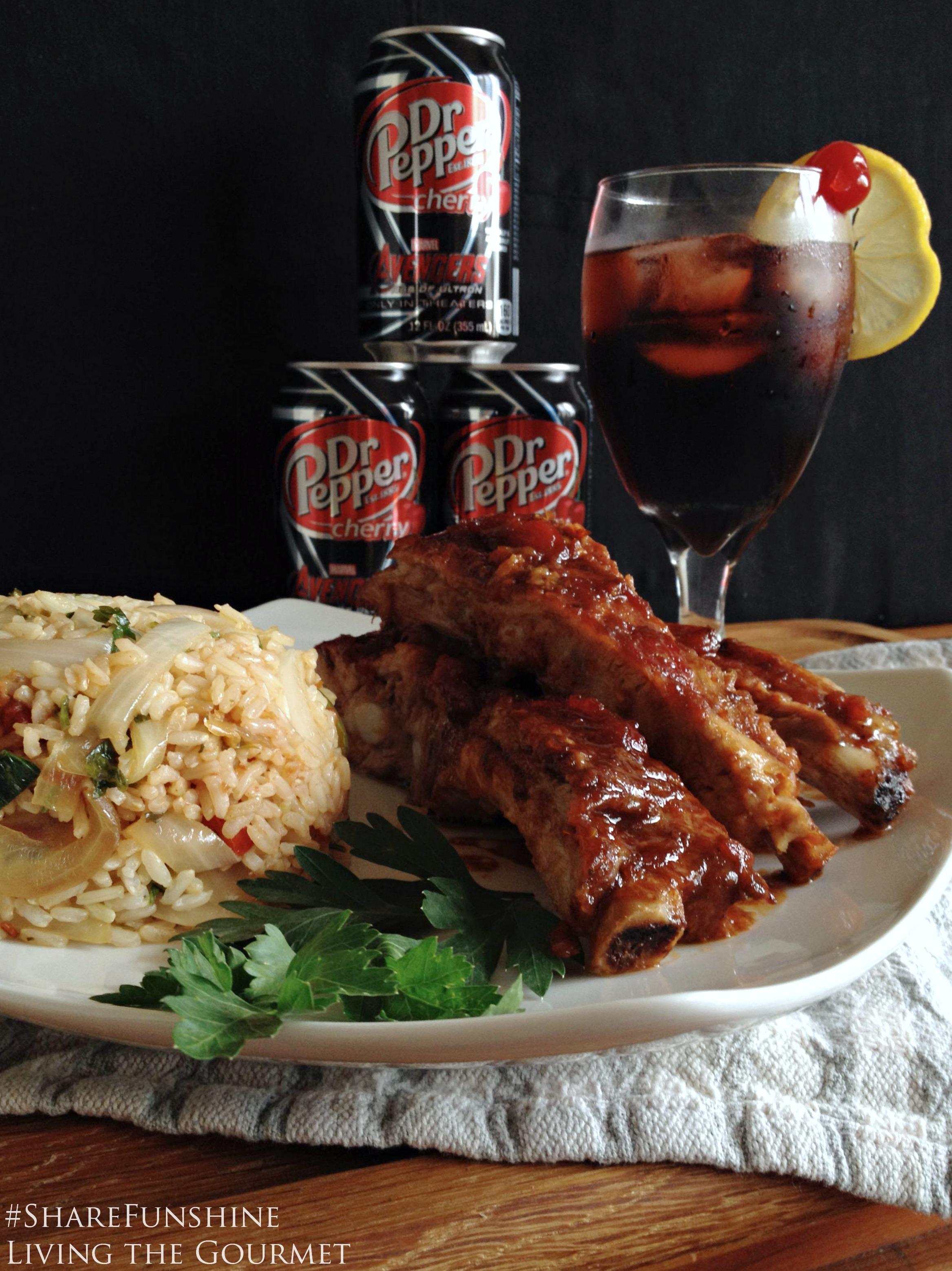 Living the Gourmet: Dr. Pepper Cherry Soda Ribs #ShareFunshine