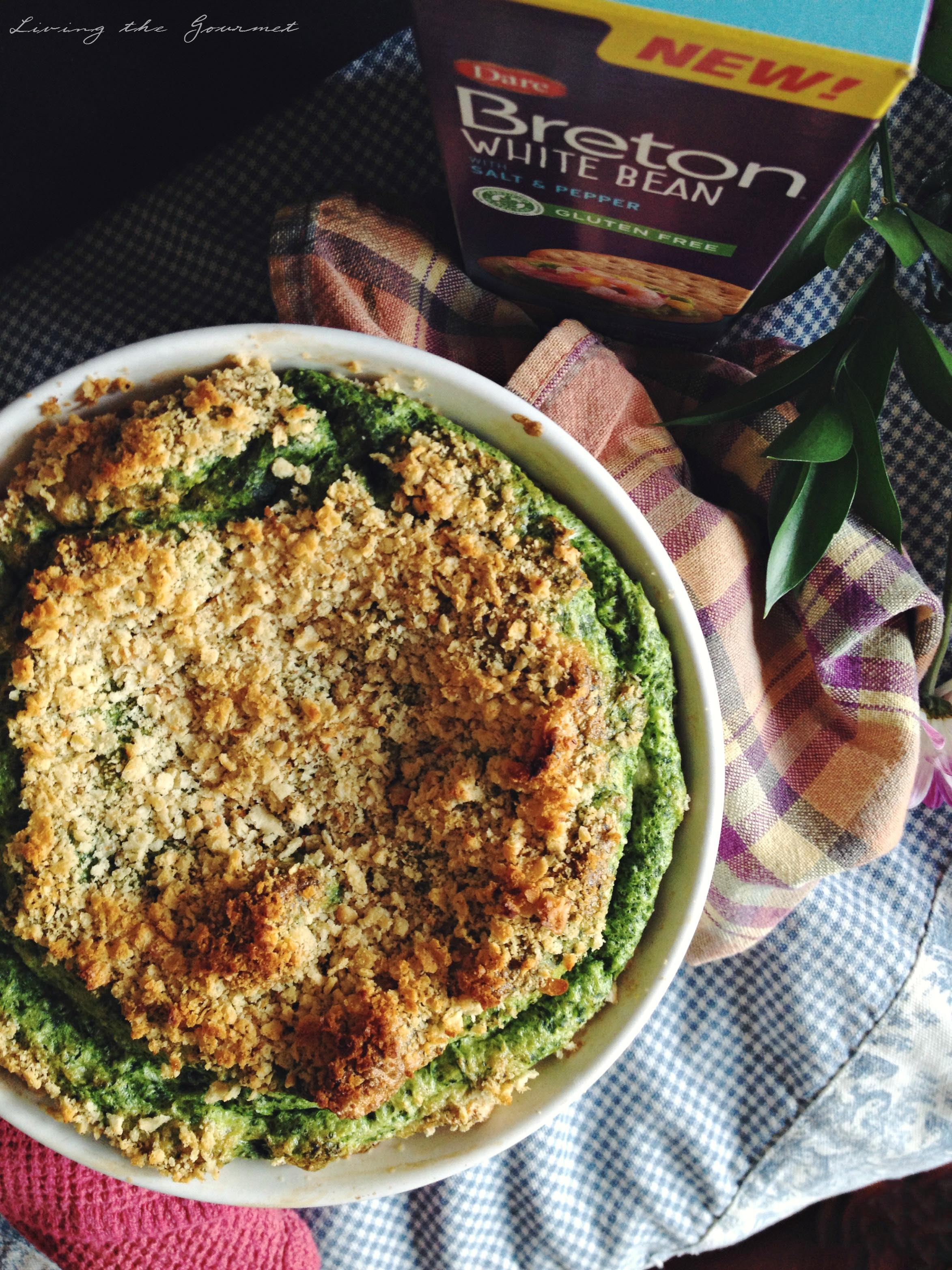 gluten free spinach & goat cheese soufflé - living the gourmet
